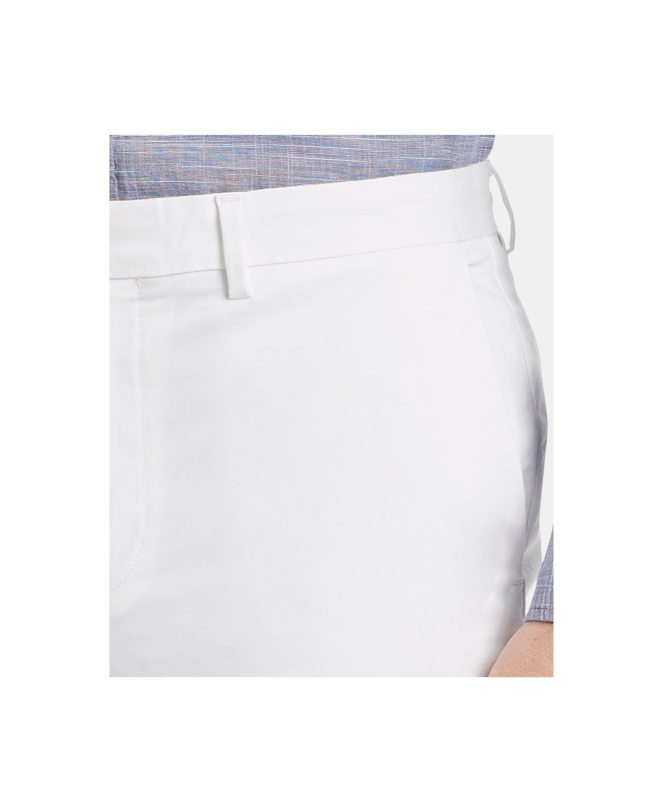 Calvin Klein Refined Stretch Slim Fit Chinos in White for