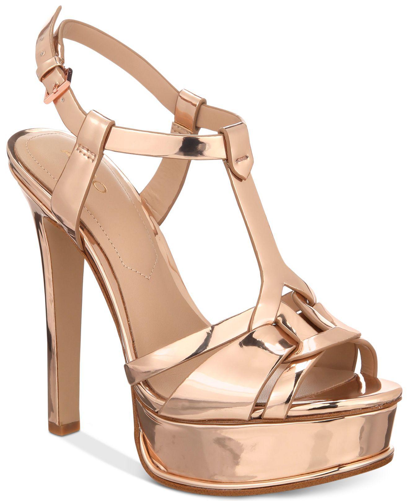 aa28aabe75d Lyst - ALDO Chelly Platform Dress Sandals