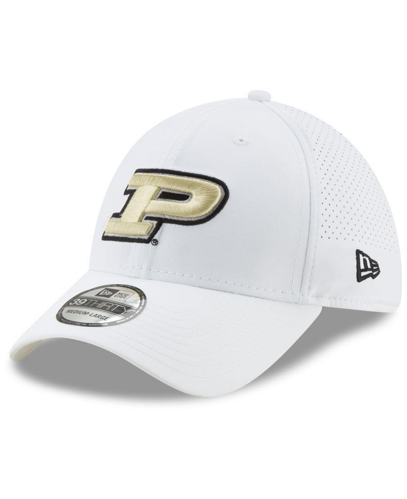 new concept 15a76 9135f Lyst - KTZ Purdue Boilermakers Perf Play 39thirty Cap in White for Men