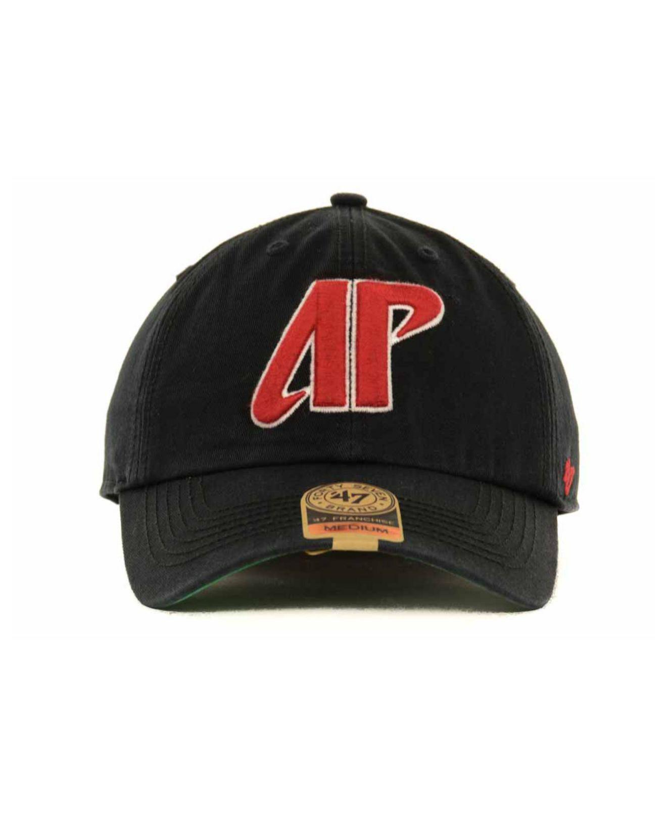 new styles 5fb16 140e6 ... clearance 47 brand austin peay governors ncaa 47 franchise cap in black  for men lyst c32c1