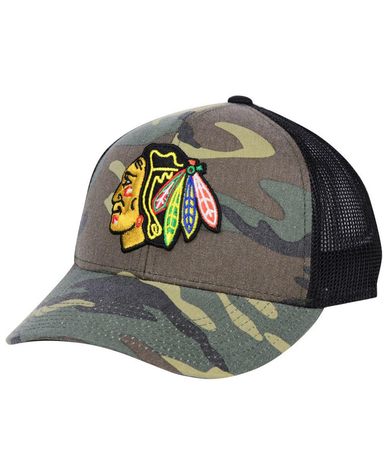 check out 23ab4 48c00 ... aliexpress adidas. mens chicago blackhawks camo trucker cap c79f0 d470e