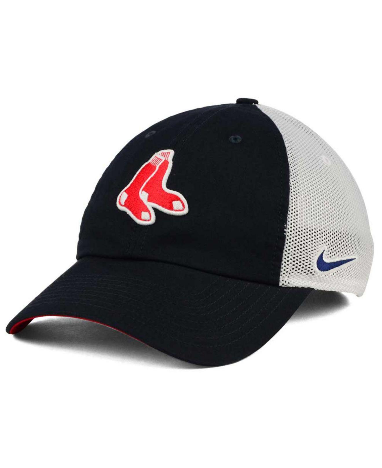 Lyst - Nike Boston Red Sox Dri-fit Mesh Swoosh Adjustable Cap in ... e8e4fb87a26