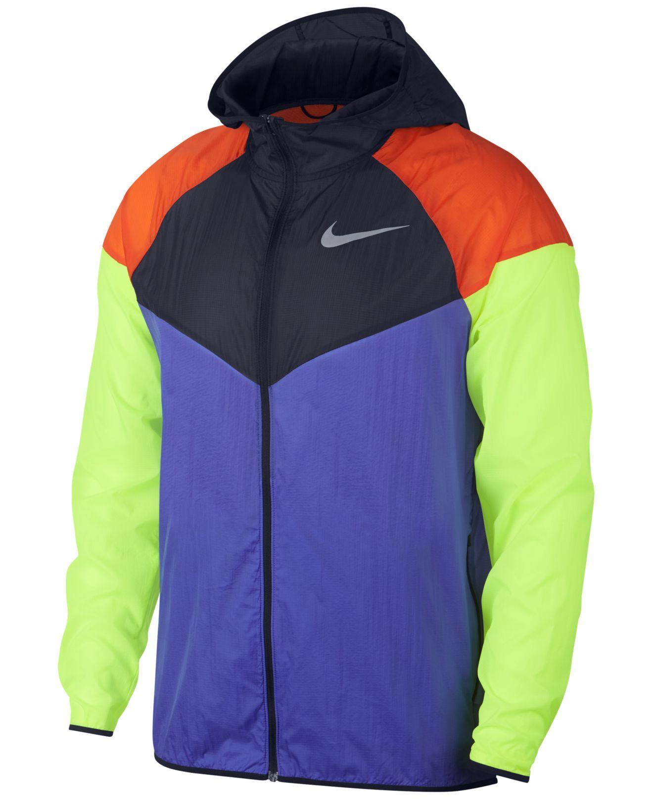 bcf4dfe8f70e Lyst - Nike Colorblocked Water-repellent Windrunner Jacket in Purple ...