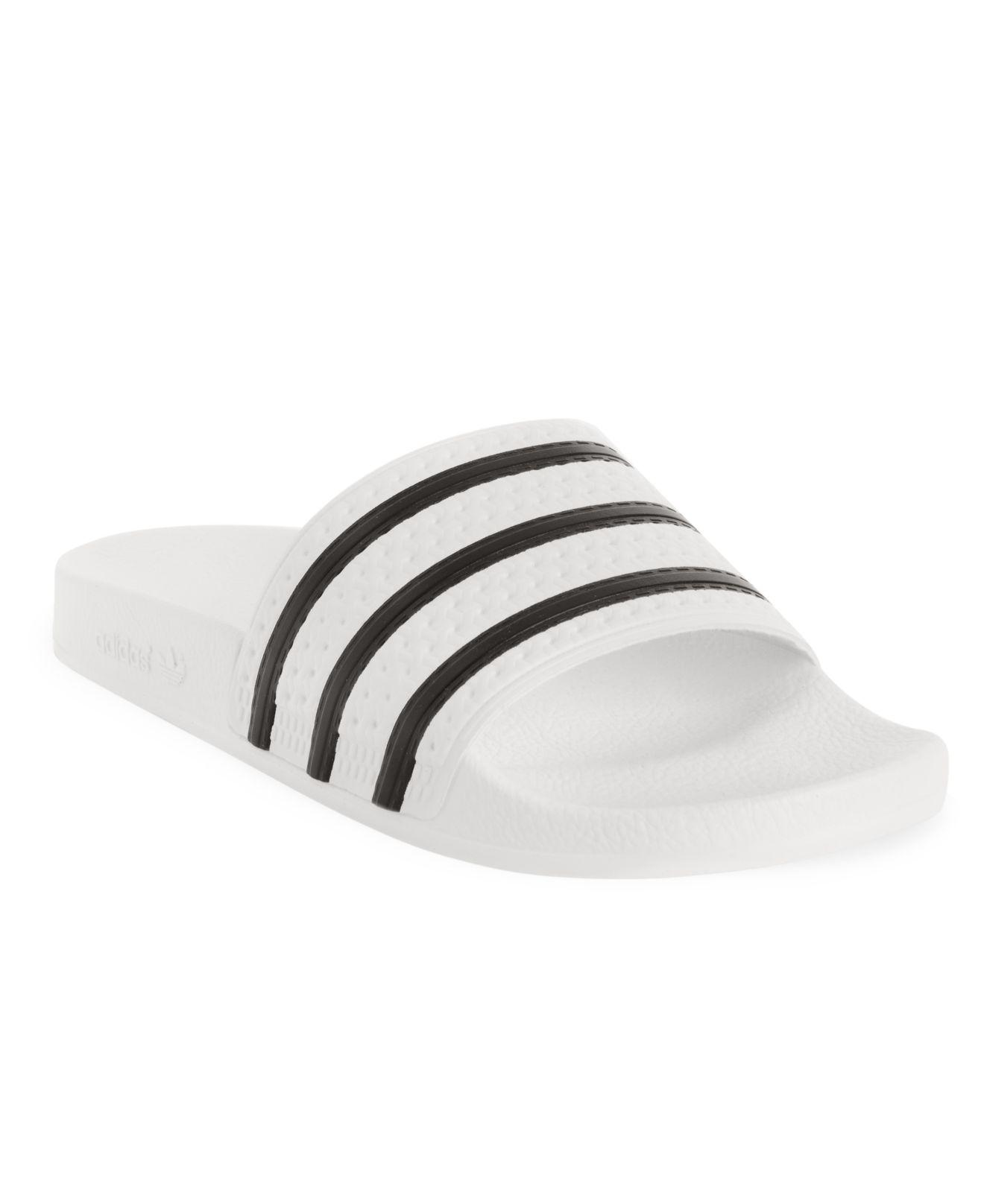 23405a50452d89 Lyst - Adidas Adilette Slide Sandals From Finish Line in White for Men