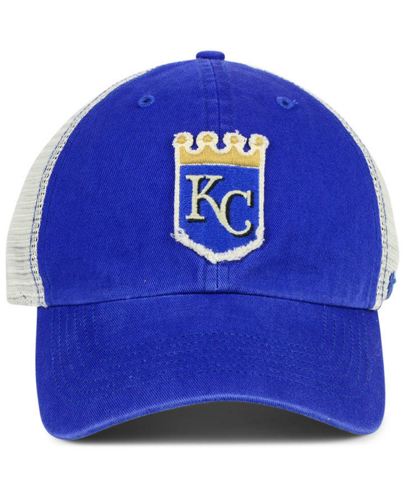 hot sale online 07bd4 31f7d ... top quality lyst 47 brand kansas city royals tally closer stretch  fitted cap in blue for