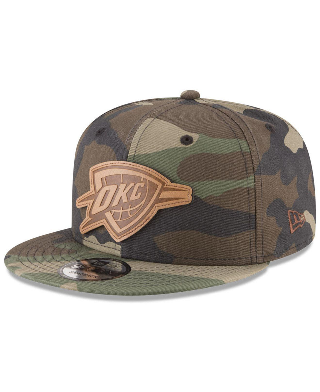 lowest price f3295 bc776 Lyst - KTZ Oklahoma City Thunder Camo 9fifty Snapback Cap for Men