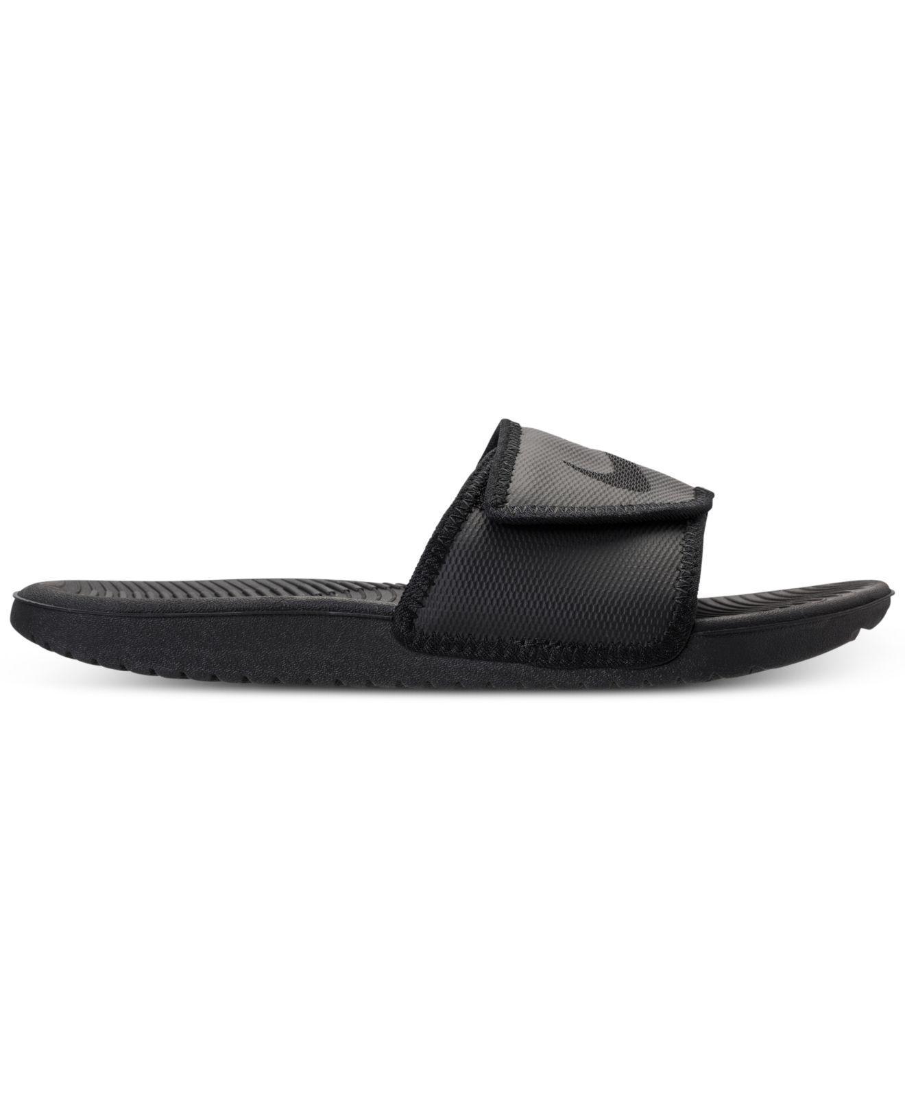 4532ba9d24c8 Lyst - Nike Men s Kawa Adjustable Slide Sandals From Finish Line in Black  for Men