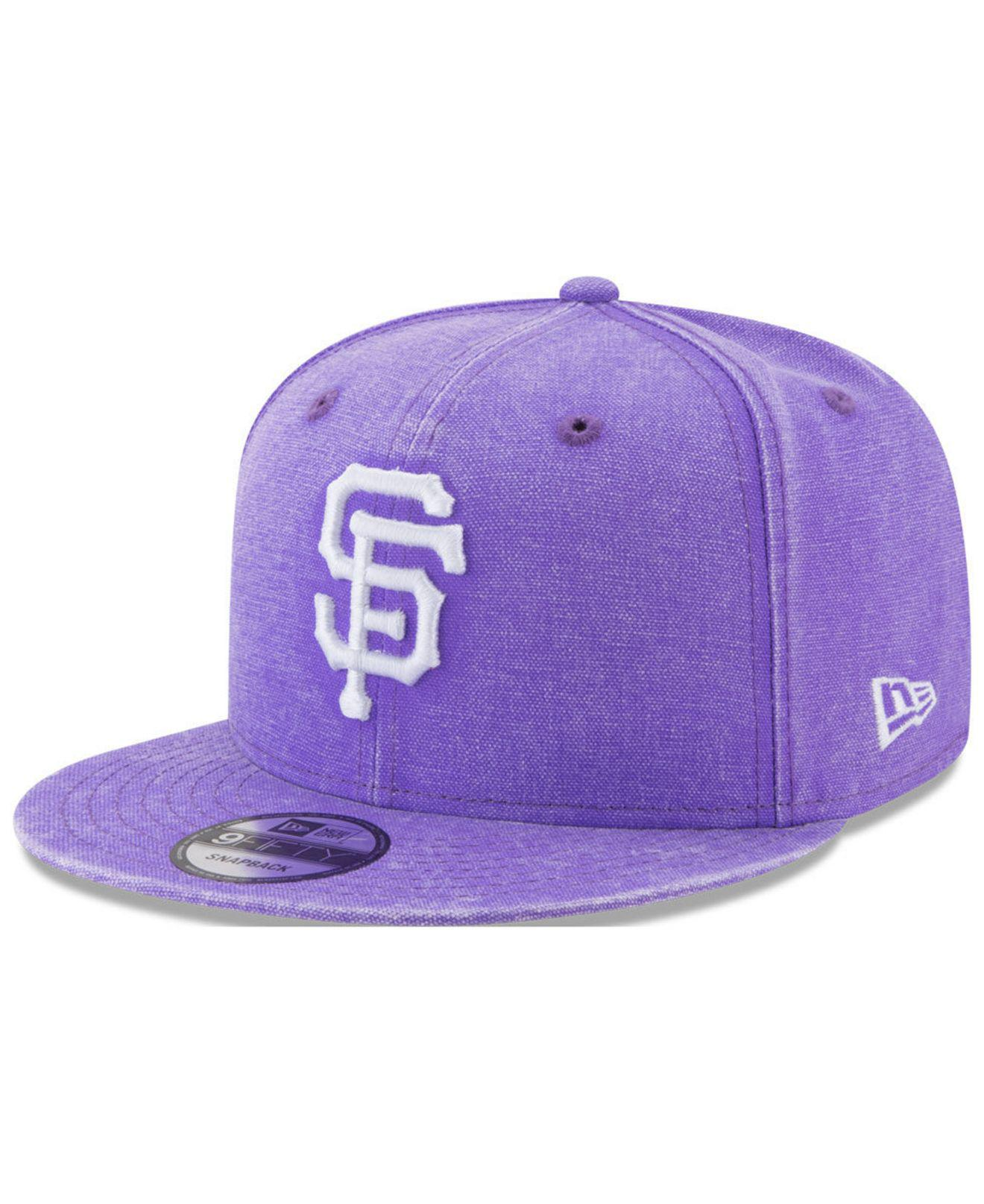 914523e9559 ... order ktz. mens purple san francisco giants neon time 9fifty snapback  cap 872af 7f4ae