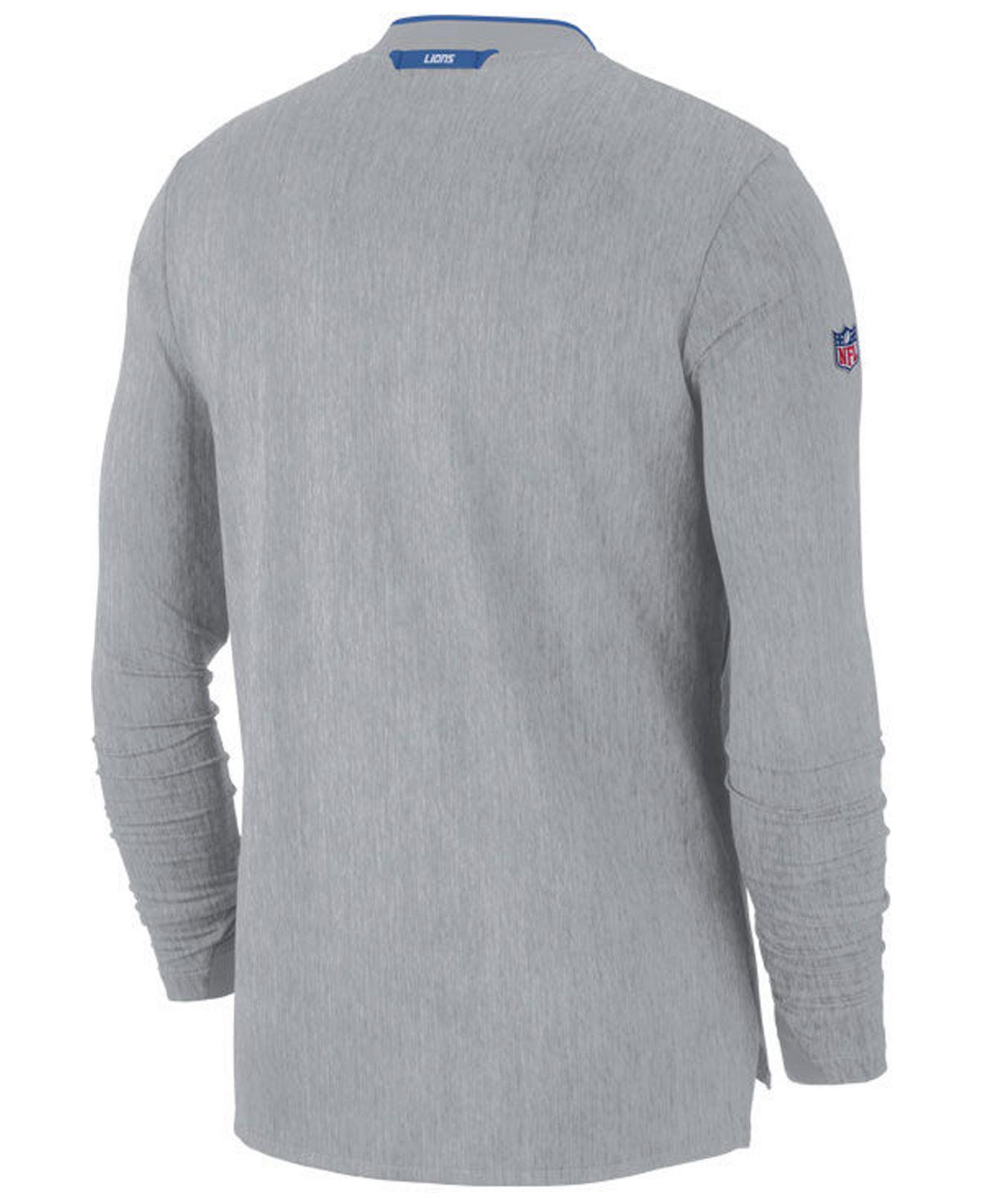 e7c2dee4 Nike Detroit Lions Coaches Quarter-zip Pullover in Gray for Men - Lyst
