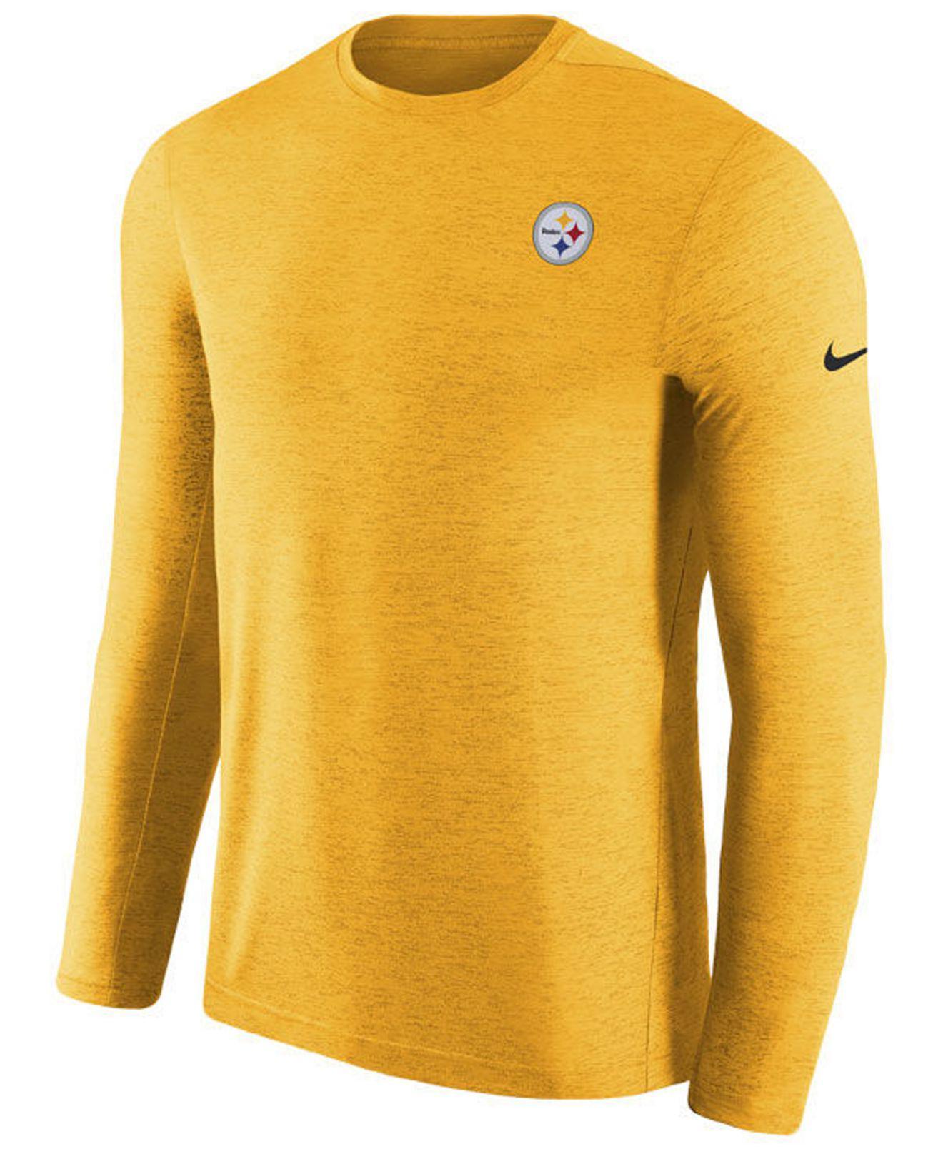 94fafc12e Lyst - Nike Pittsburgh Steelers Coaches Long Sleeve Top in Metallic ...