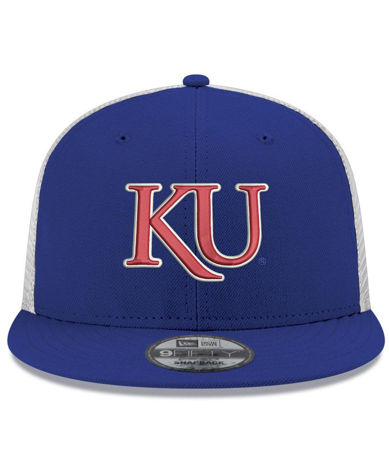 5780d018c45 Lyst - KTZ Kansas Jayhawks Tc Meshback Snapback Cap in Blue for Men