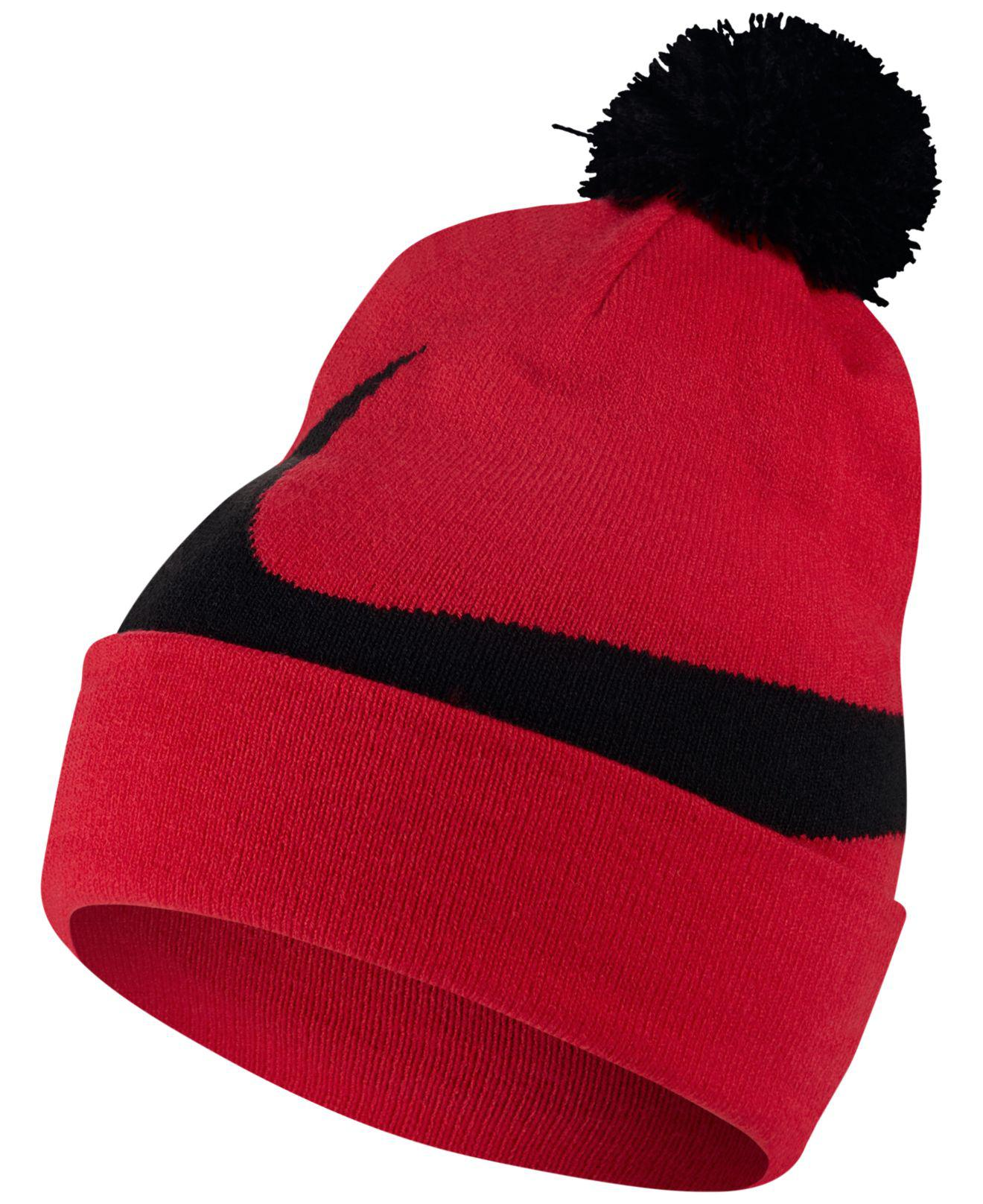 info for 4ebdd fc8f1 Lyst - Nike Men s Exploded Swoosh Pom Pom Beanie in Red for Men