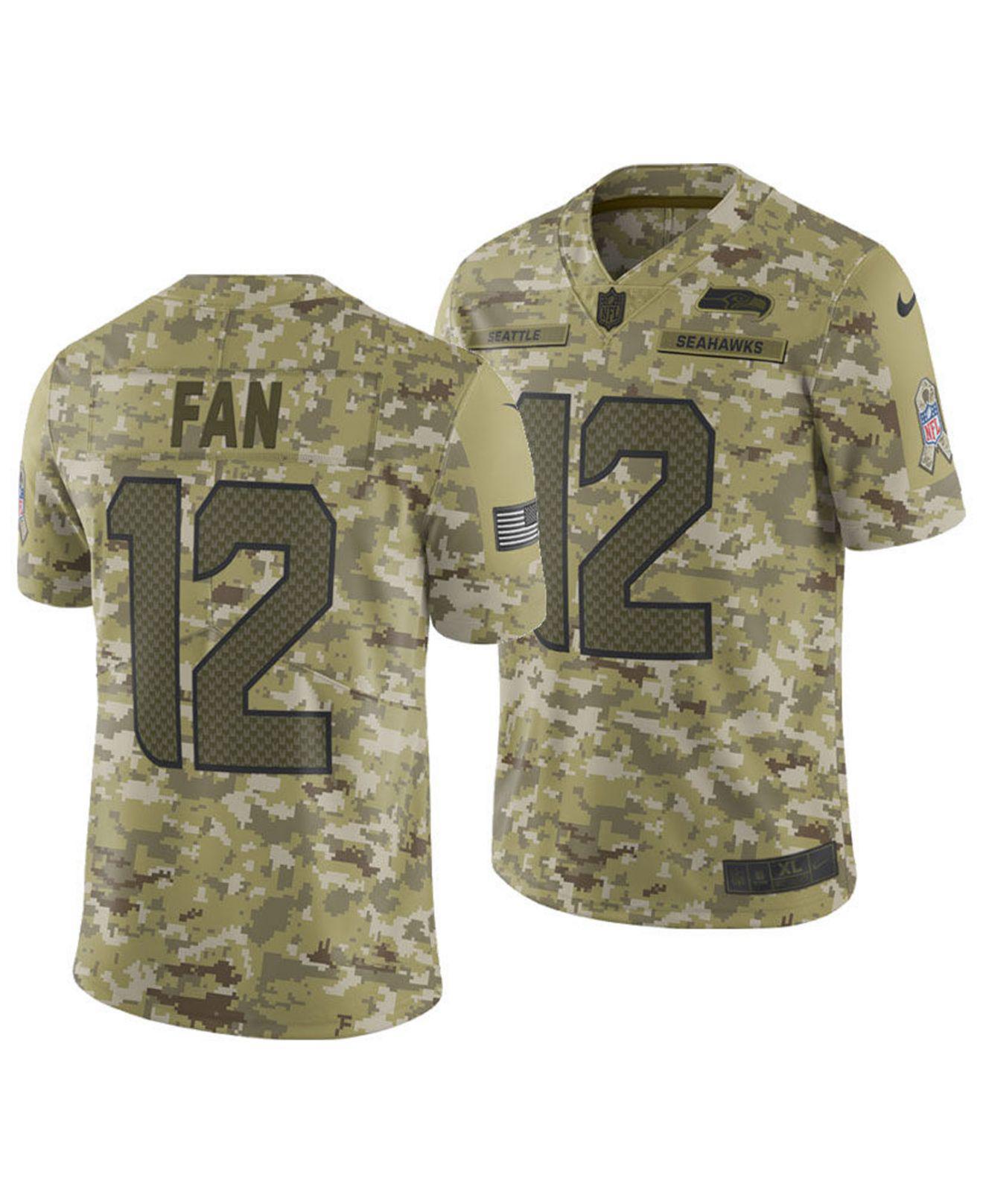 Lyst - Nike Fan  12 Seattle Seahawks Salute To Service Jersey 2018 ... fcc9f4109