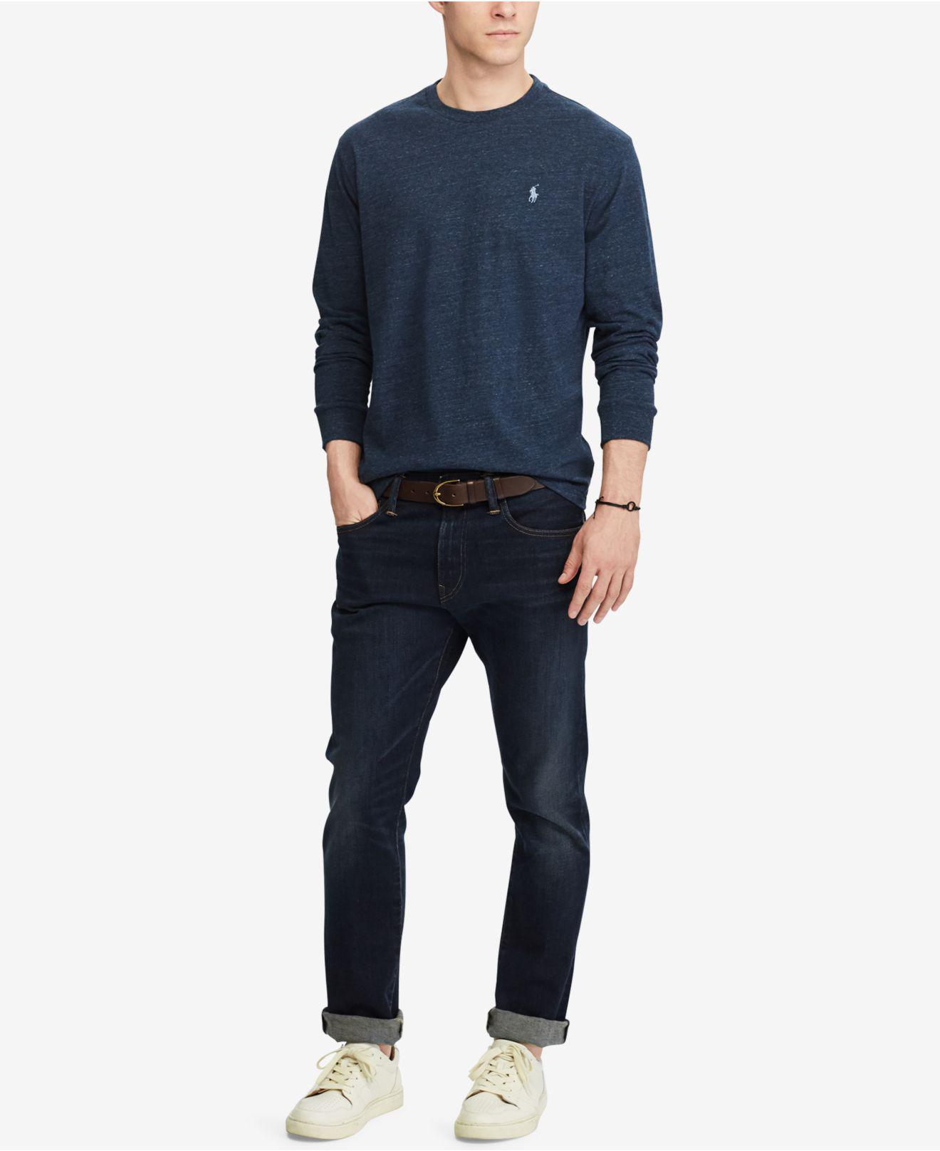 5df534bb8 Polo Ralph Lauren Men's Classic-fit Long-sleeve T-shirt in Blue for ...