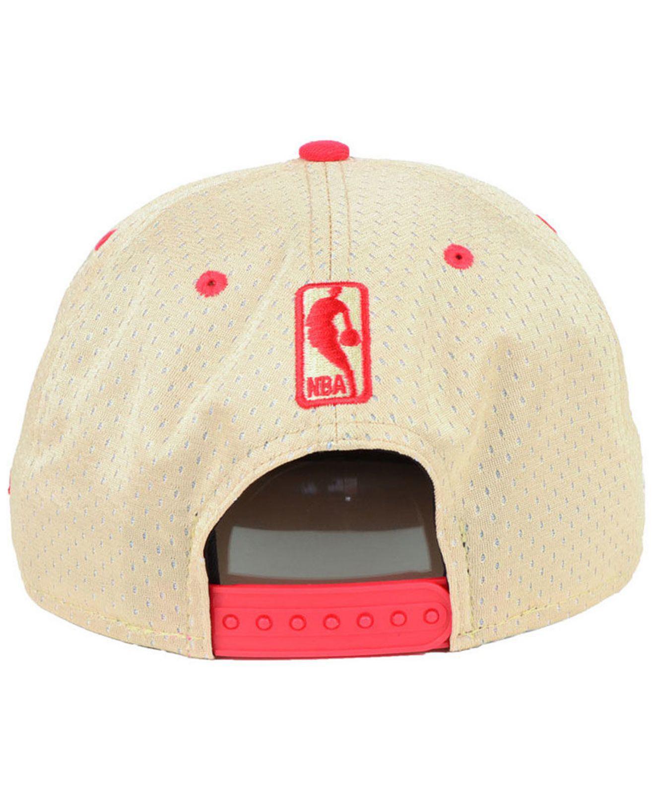 wholesale dealer f6940 309be KTZ - Red Atlanta Hawks Champagne 9fifty Snapback Cap for Men - Lyst. View  fullscreen