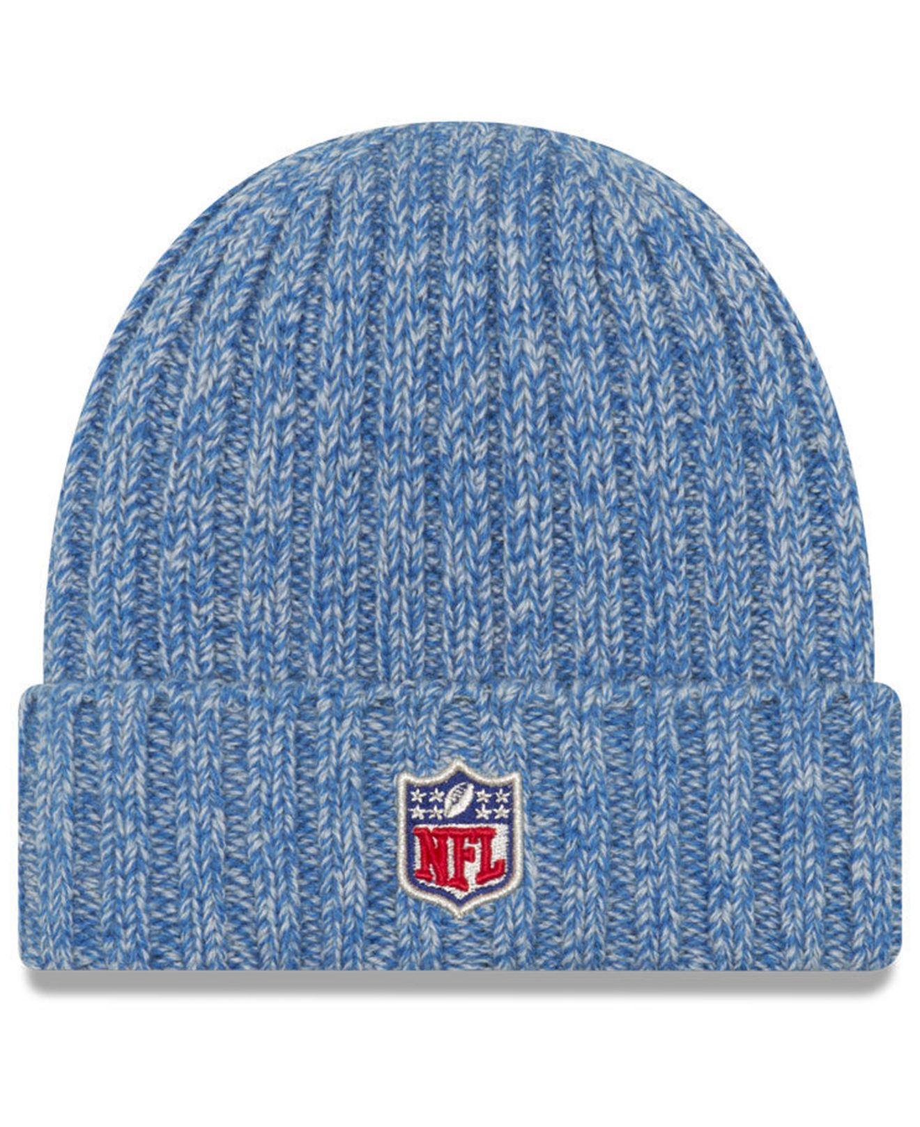 super popular a78e6 df797 KTZ. Women s Blue Detroit Lions On Field Knit Hat