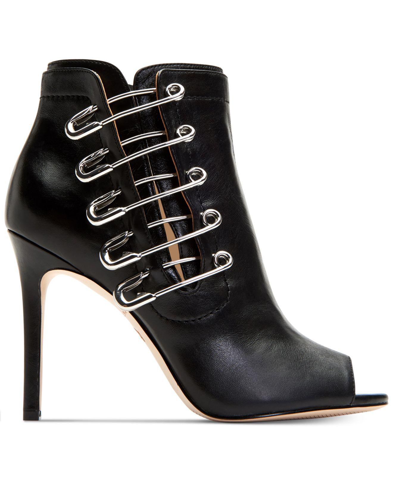 ab25bf2a2bdec Lyst - Katy Perry Unity Peep-toe Booties in Black