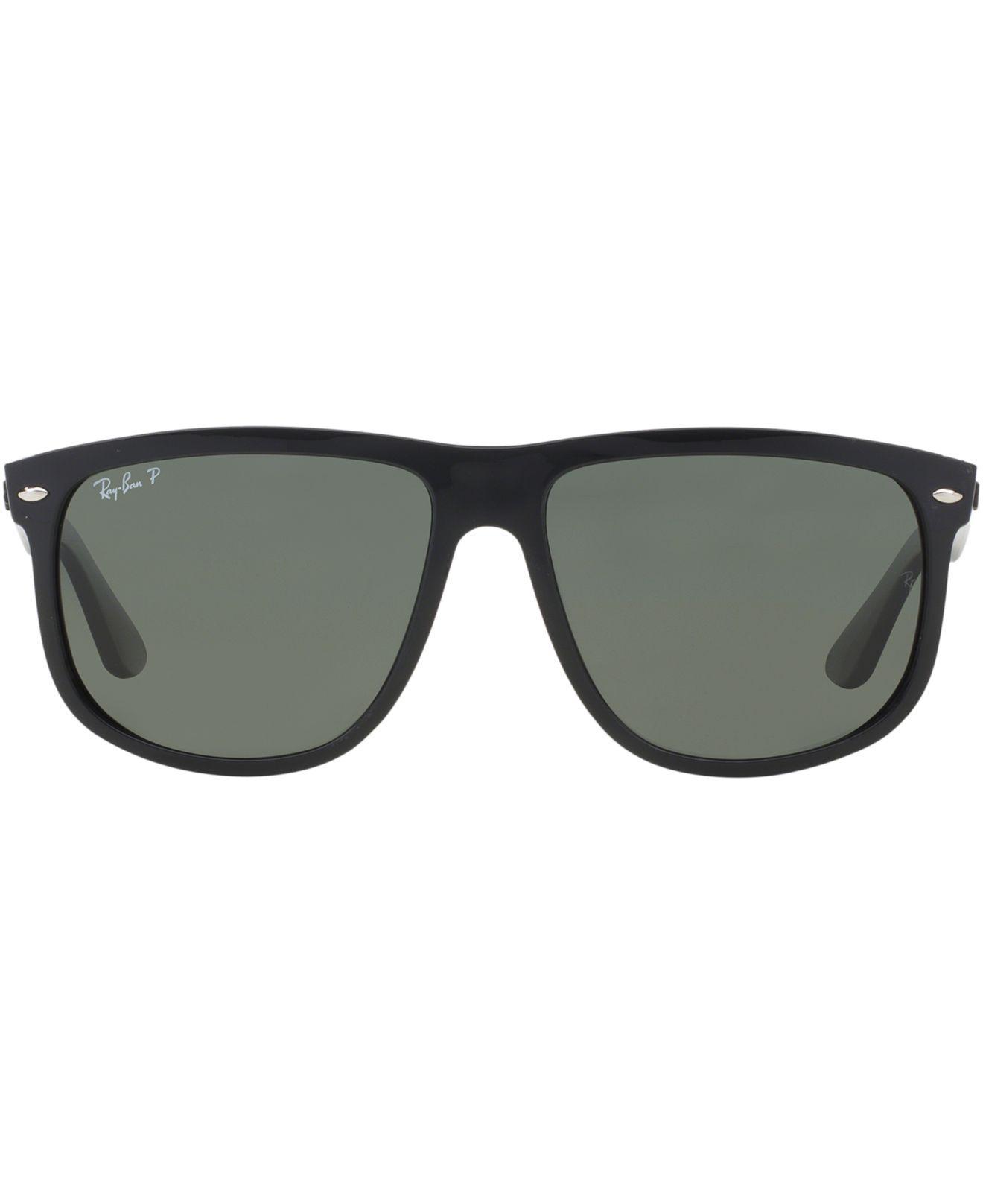 7a8c3a482564c ... good lyst ray ban polarized boyfriend sunglasses rb4147 56 in black  4be15 6a5b4