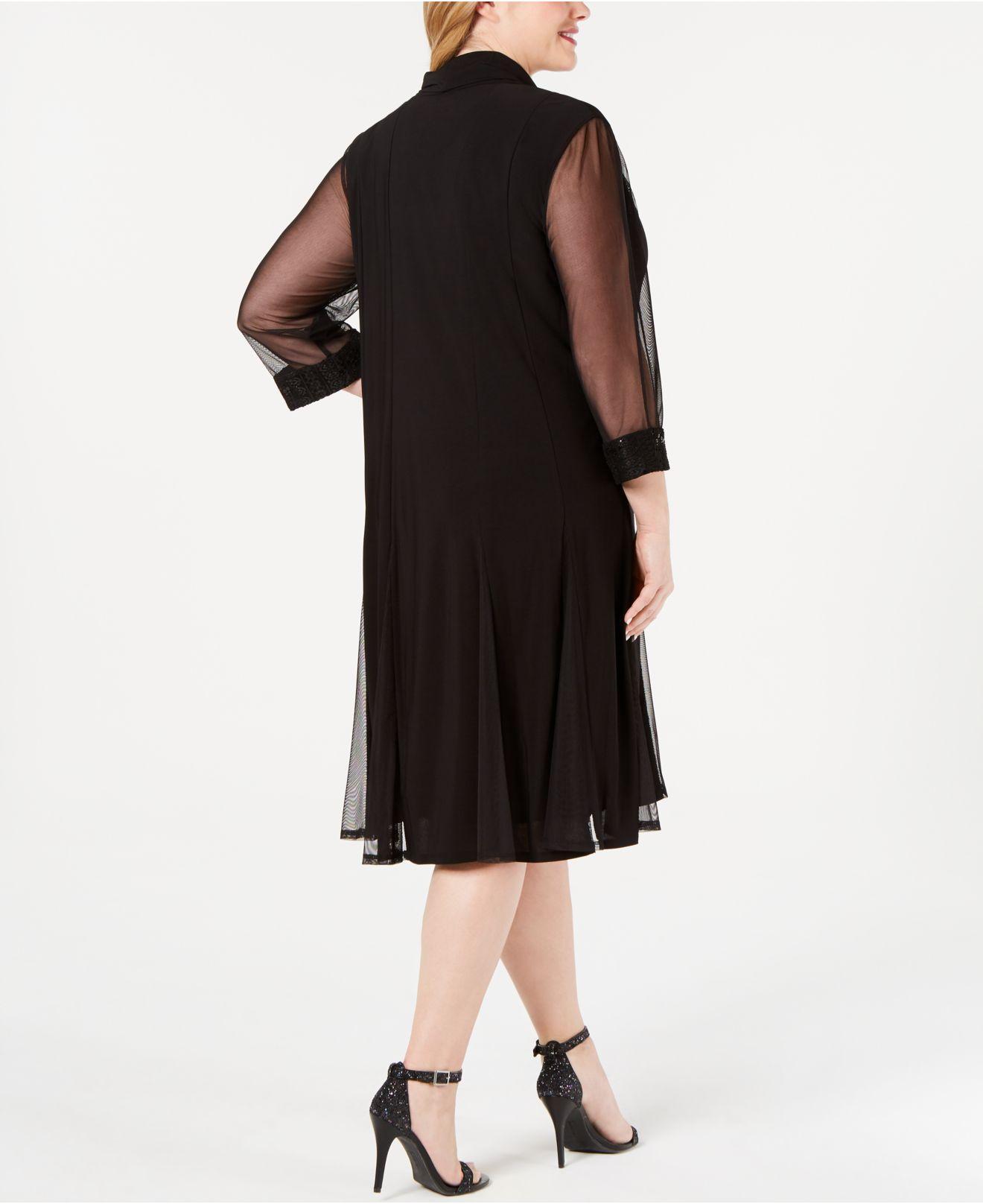 221242c37d8b5 Lyst - R   M Richards Plus-size Embellished Dress   Jacket Set in Black
