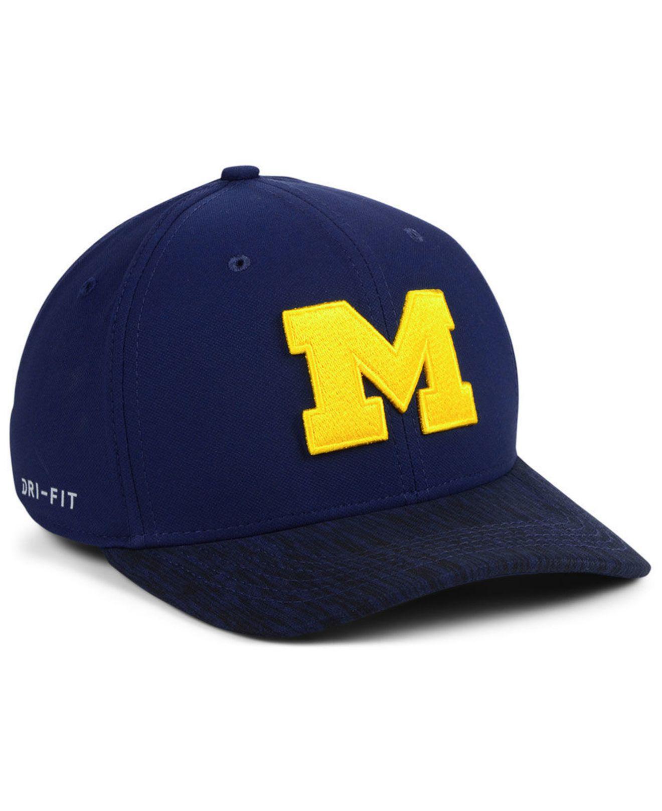 Lyst - Nike Michigan Wolverines Arobill Swoosh Flex Stretch Fitted ... 2370dd1588ee