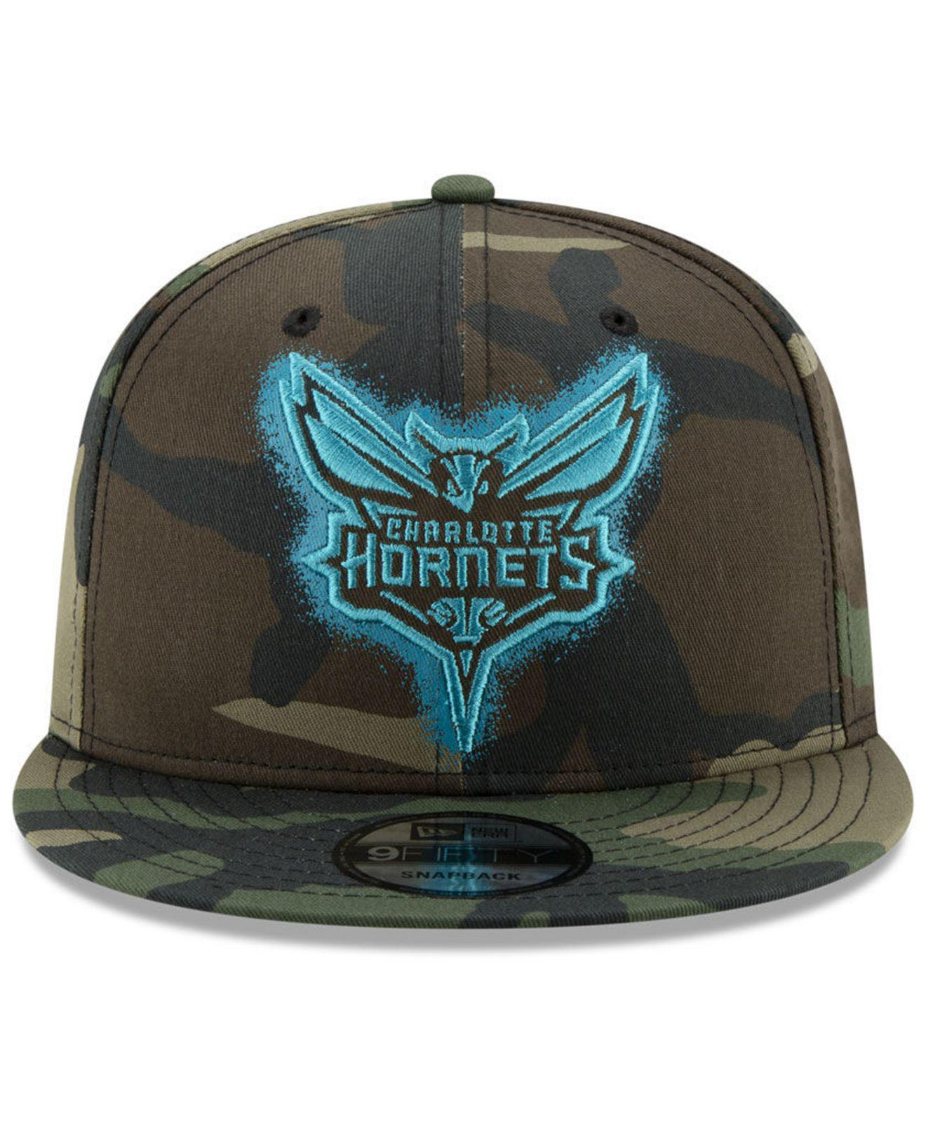 the latest 30cbf 97d4f ... top quality lyst ktz charlotte hornets overspray 9fifty snapback cap in  green for men 930c0 8b2f8