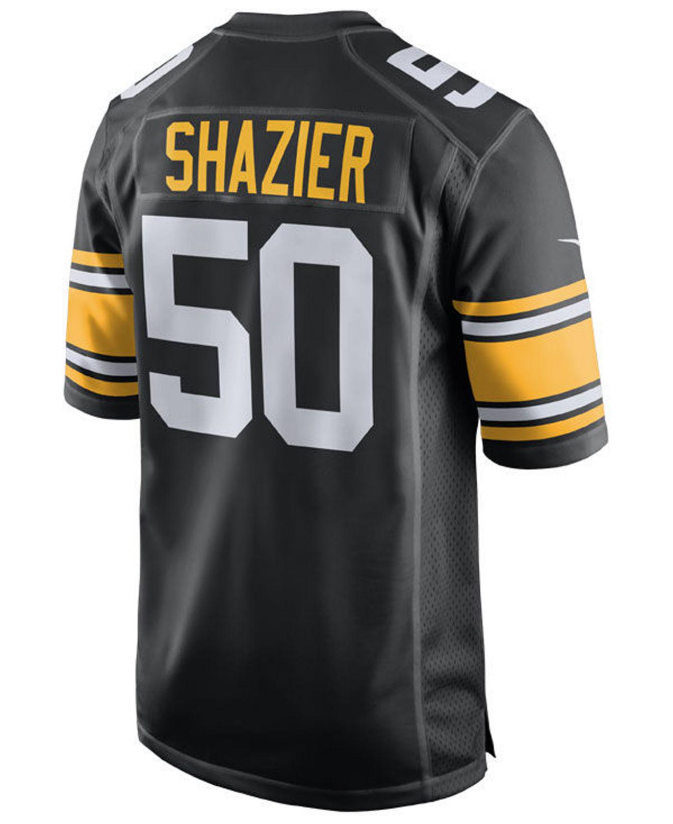Lyst - Nike Ryan Shazier Pittsburgh Steelers Game Jersey in Black for Men a577c914a
