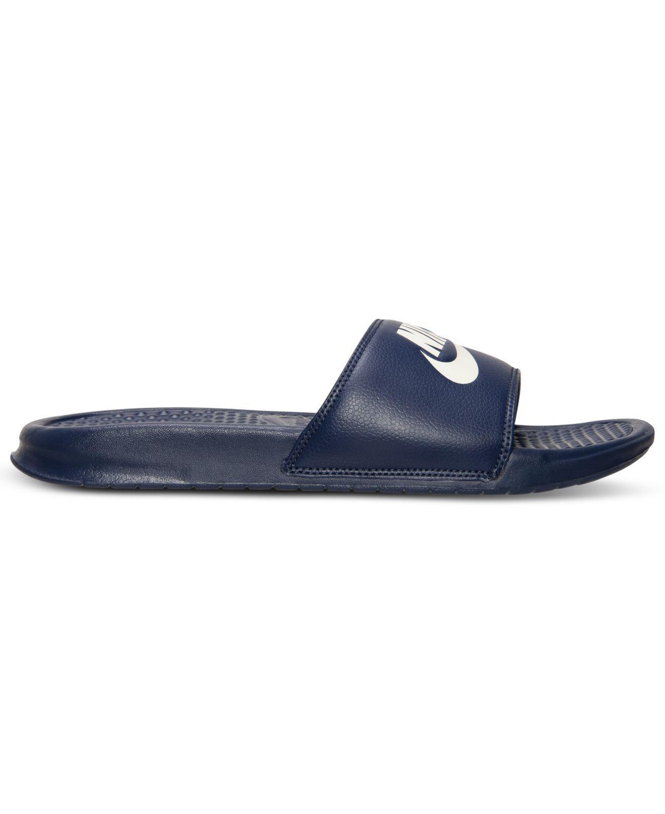 b4888f79fe0e Lyst - Nike Benassi Jdi Slide Sandals From Finish Line in Blue for Men