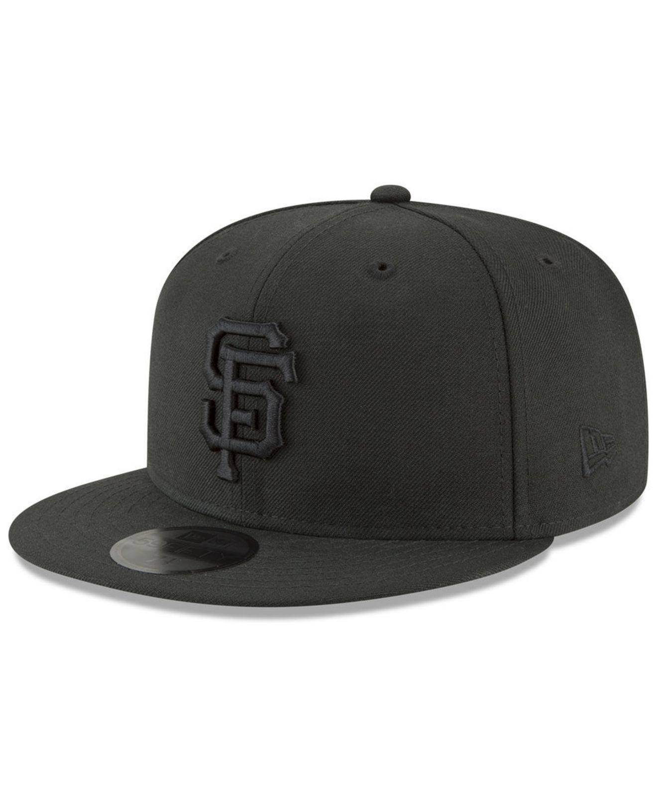 new product 1504d 04eac KTZ. Men s San Francisco Giants Blackout 59fifty Fitted Cap