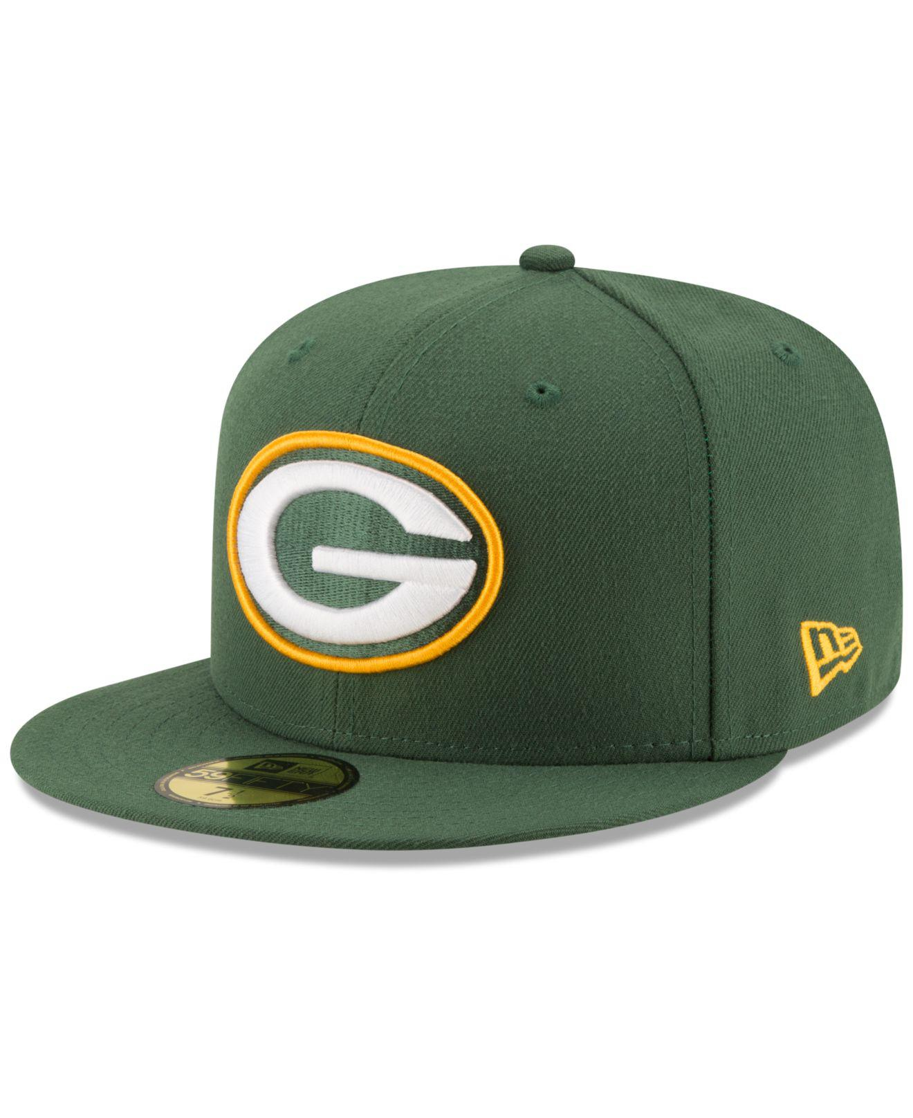 Lyst - KTZ Green Bay Packers Team Basic 59fifty Cap in Green for Men 5f7686070