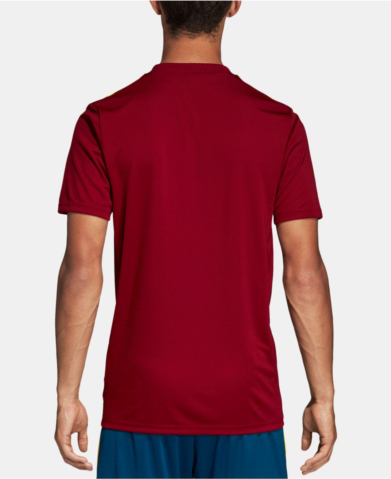 037b1c8f11d Lyst - adidas Striped Soccer Jersey in Red for Men