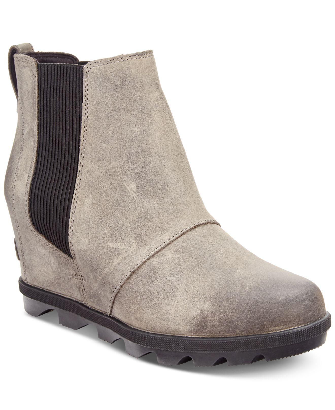 7c0790f42ca Lyst - Sorel Joan Of Arctic Wedge Ii Waterproof Chelsea Booties in Gray