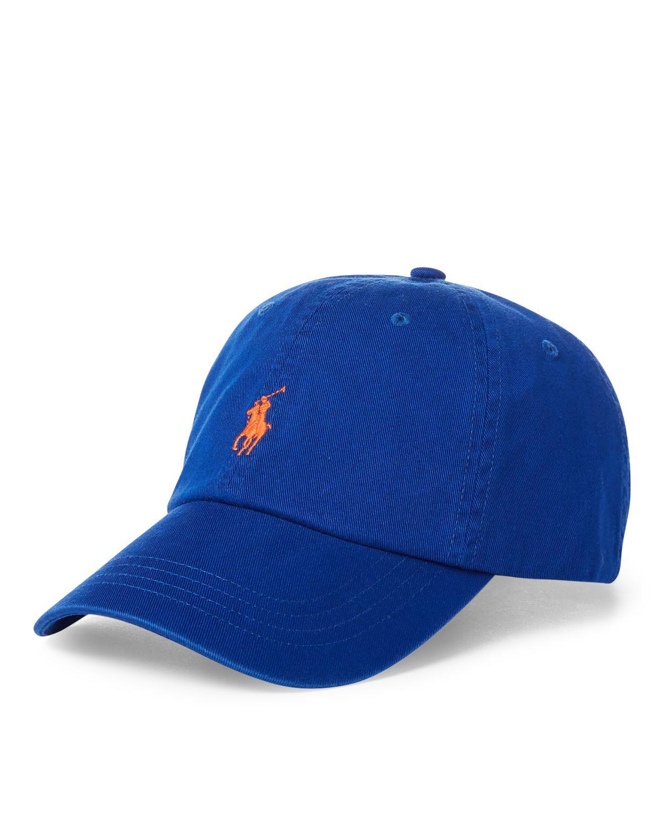 Lyst - Polo Ralph Lauren Cotton Chino Baseball Cap in Blue for Men 0d8f10e9eaf2