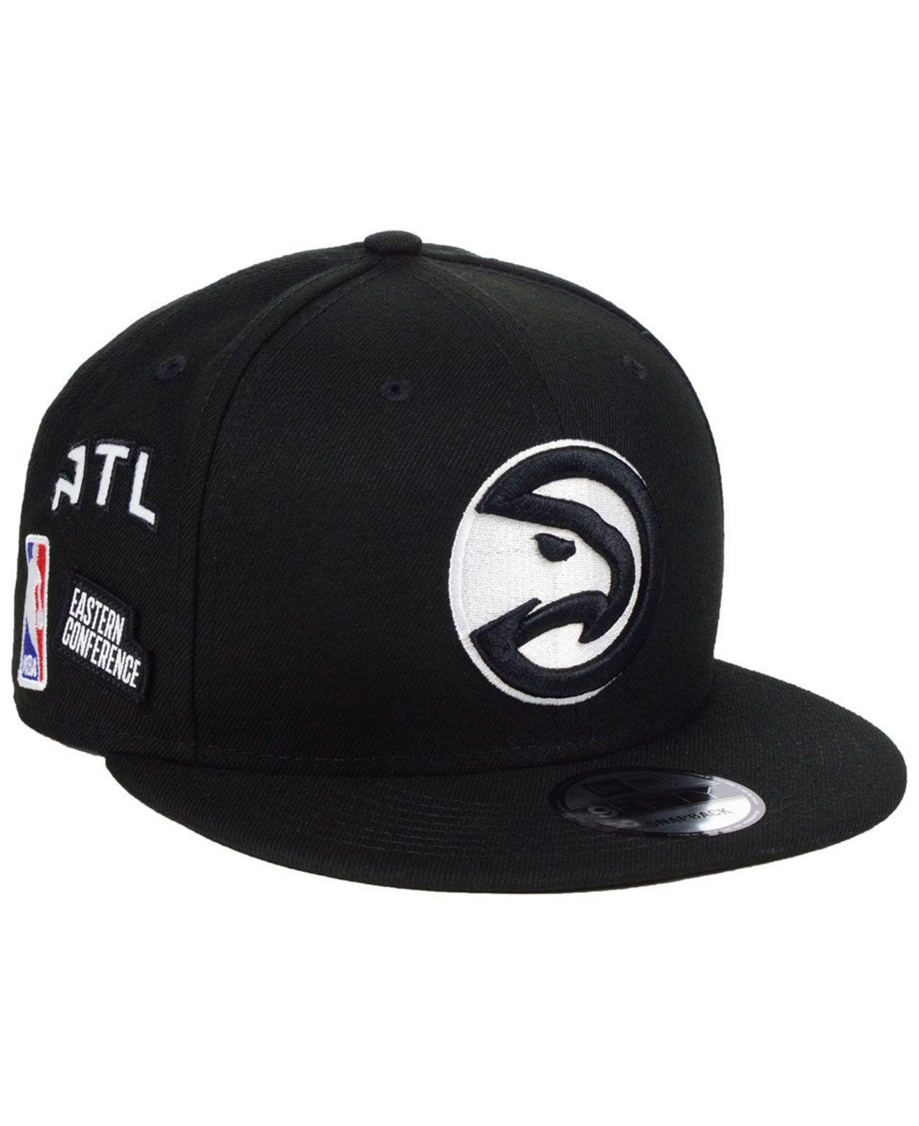 san francisco b17a9 b56ab KTZ. Men s Black Atlanta Hawks Night Sky 9fifty Snapback Cap