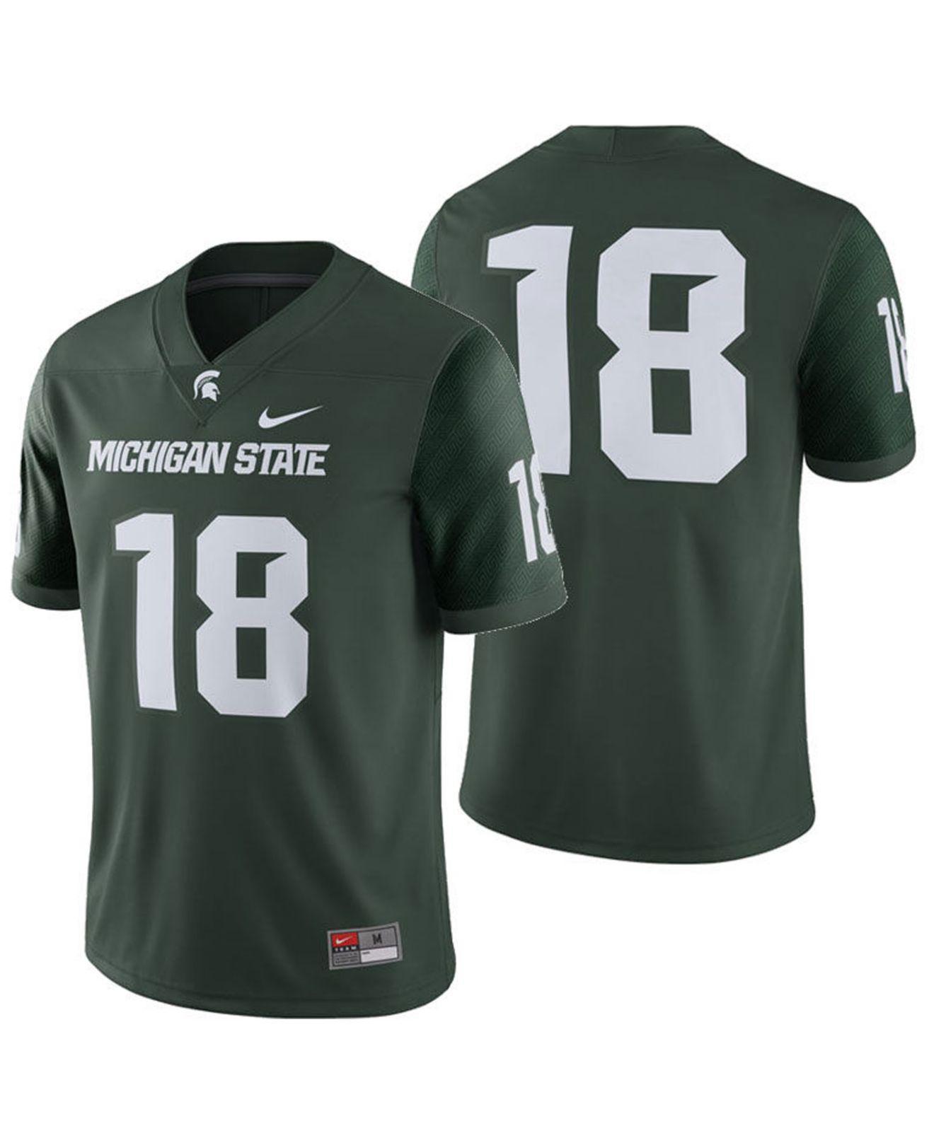 bd325e27e7a2 Lyst - Nike Michigan State Spartans Football Replica Game Jersey in ...