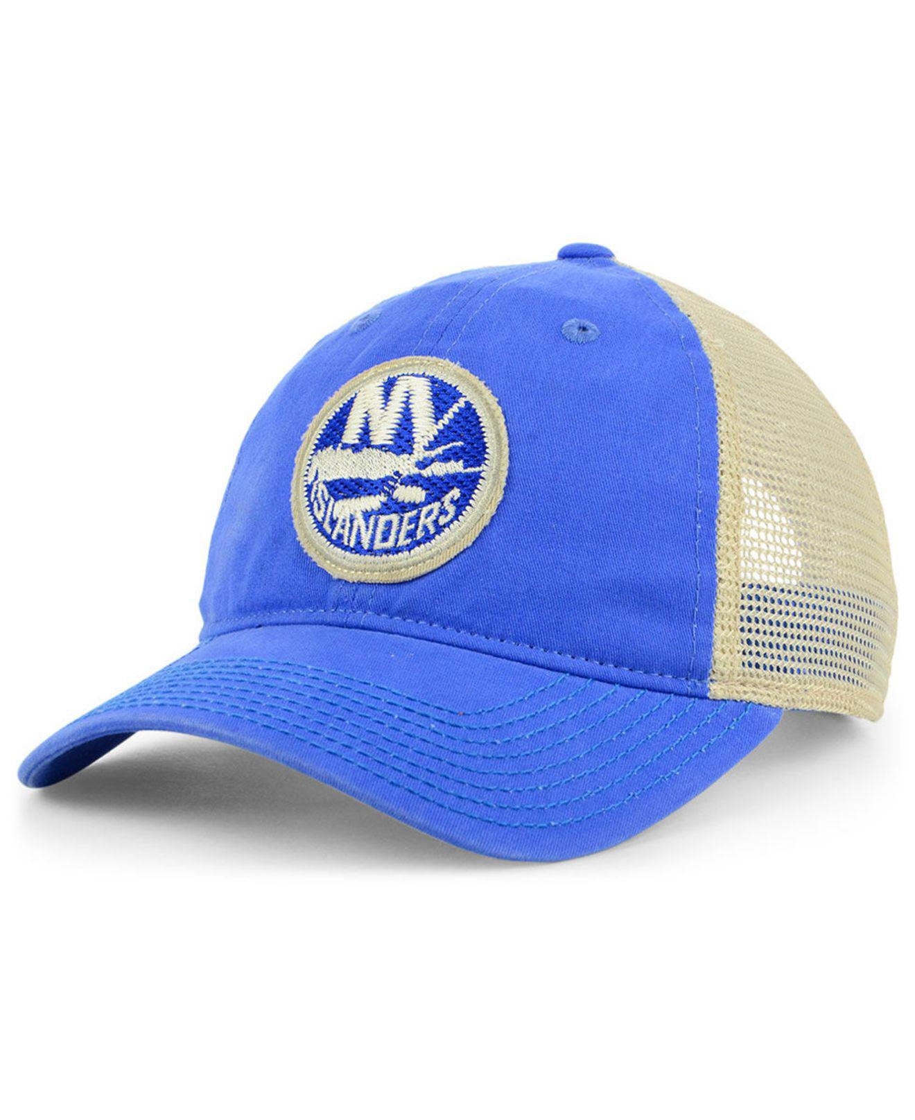 brand new b7f28 e8a5f Lyst - adidas New York Islanders Sun Bleached Slouch Cap in Blue for Men