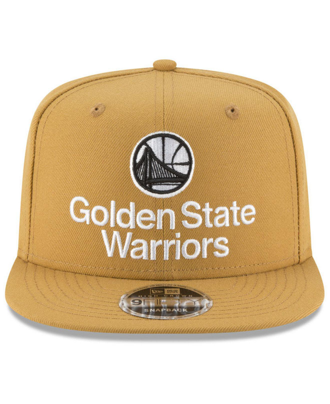 best service 703fa 6a550 ... store lyst ktz golden state warriors retro basic 9fifty snapback cap  for men 96315 1facb