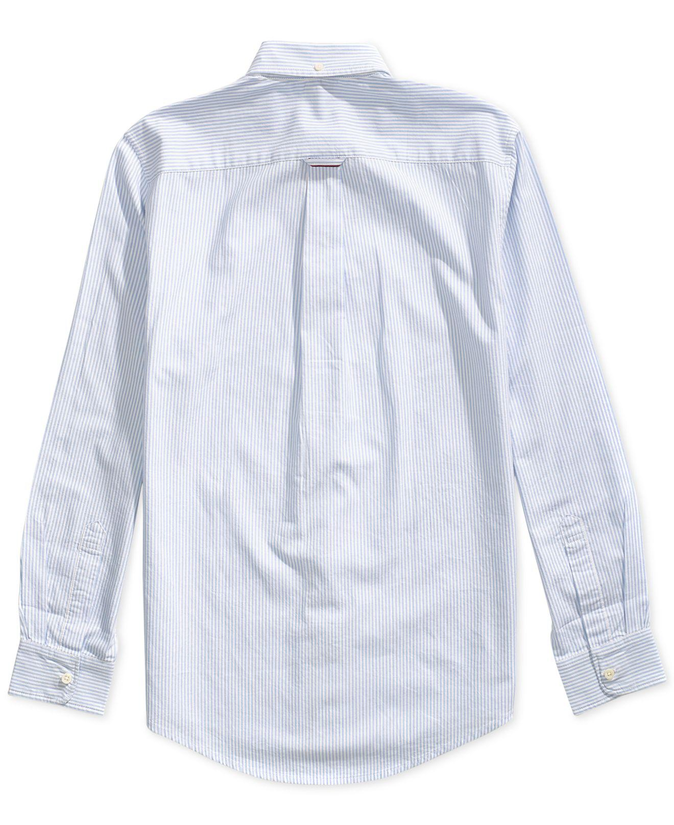 c0c4d4538c2 Lyst - Tommy Hilfiger City Stripe Oxford Shirt With Magnetic Buttons in  Blue for Men