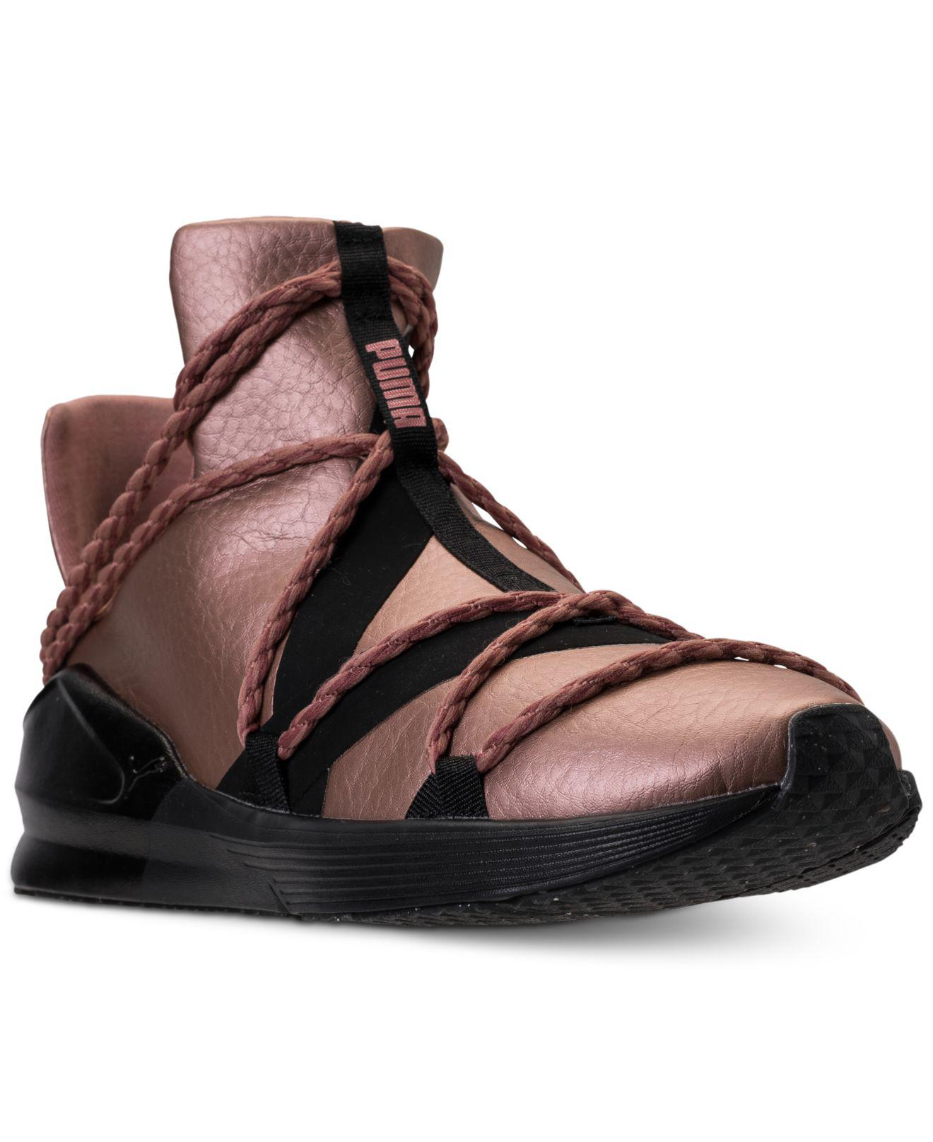 b8e535c27a4f29 ... Lyst - Puma Women s Fierce Rope Copper Velvet Rope Training Sneakers .