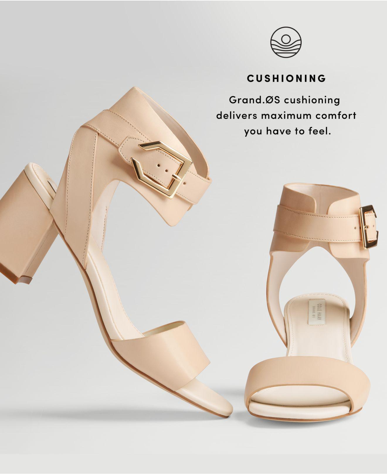 51a2588262b Lyst - Cole Haan Avani Block-heel Sandals