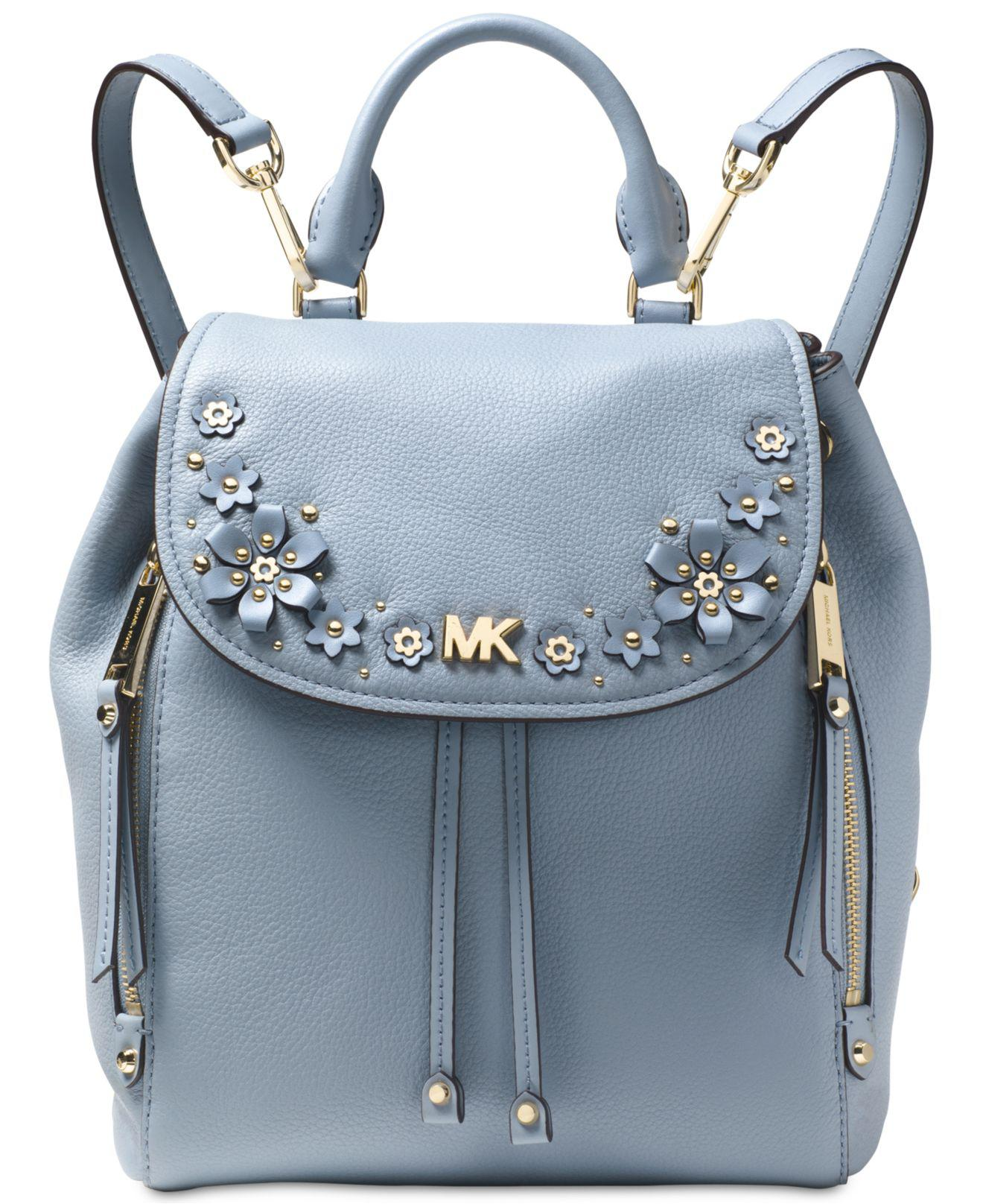 9fc0ce2b64fd australia michael kors mini backpack brown 8bb4e 3259d  where to buy michael  kors michael evie small flower garden backpack in blue lyst c0f5a d7c4d