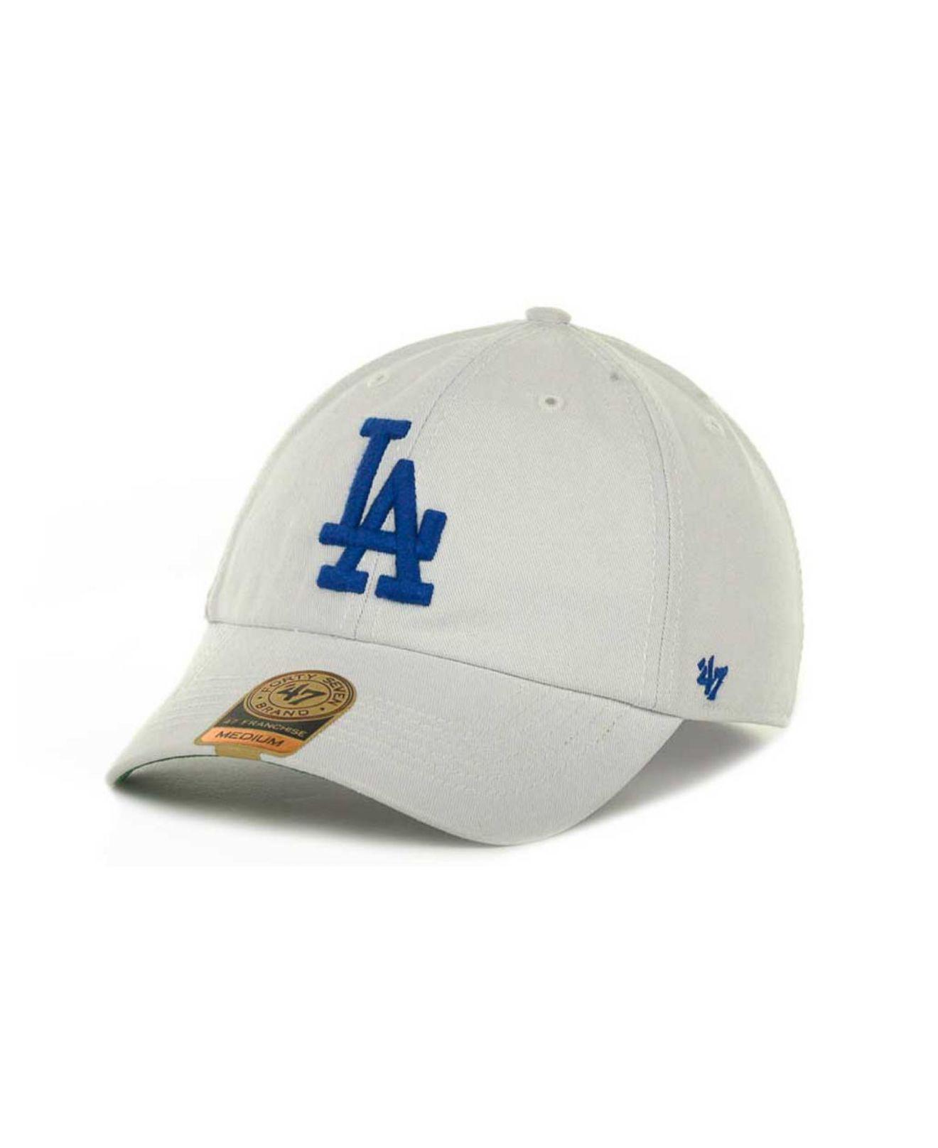 Lyst - 47 Brand Los Angeles Dodgers Mlb  47 Franchise Cap in White ... 227dcf4fffb2