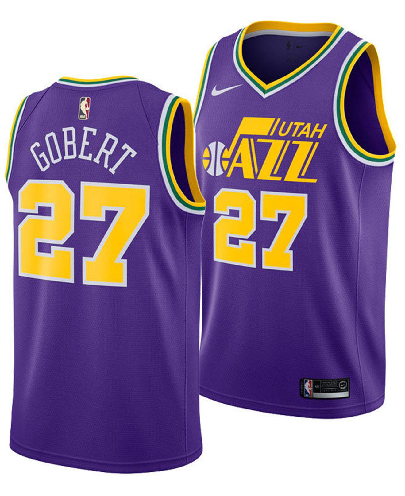 fdf36371b26 ... shopping nike. mens purple rudy gobert utah jazz hardwood classic swingman  jersey cbf79 dd44b