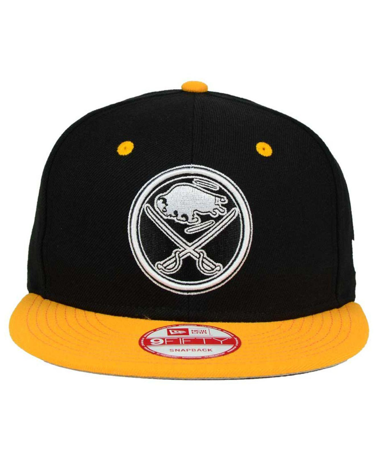 Lyst - KTZ Buffalo Sabres Black White Team Color 9fifty Snapback Cap in  Black for Men e133eb9513ee