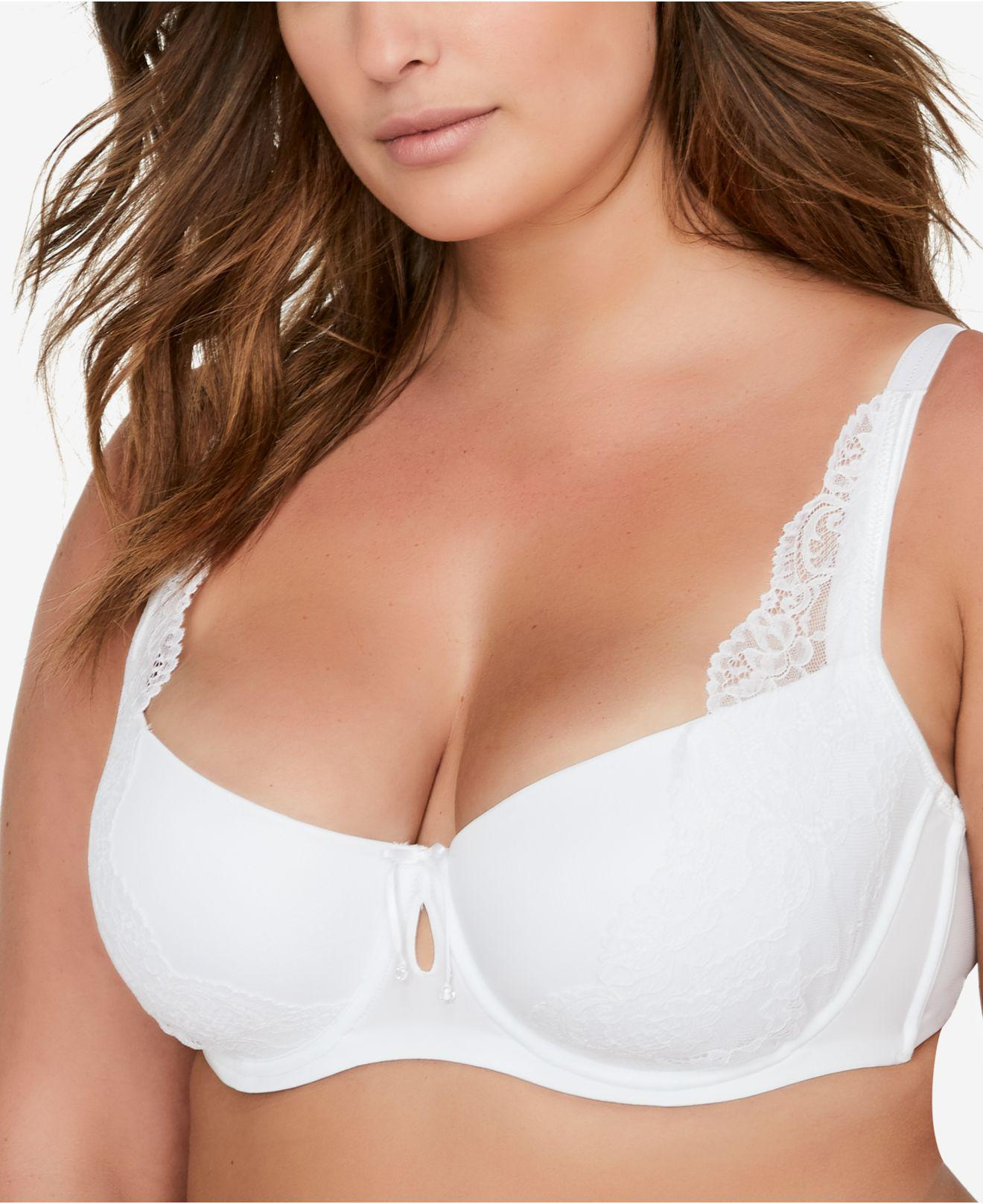 83db8a58c2288 Ashley Graham Diva Plus Size Lace Demi Bra 405087 in White - Lyst
