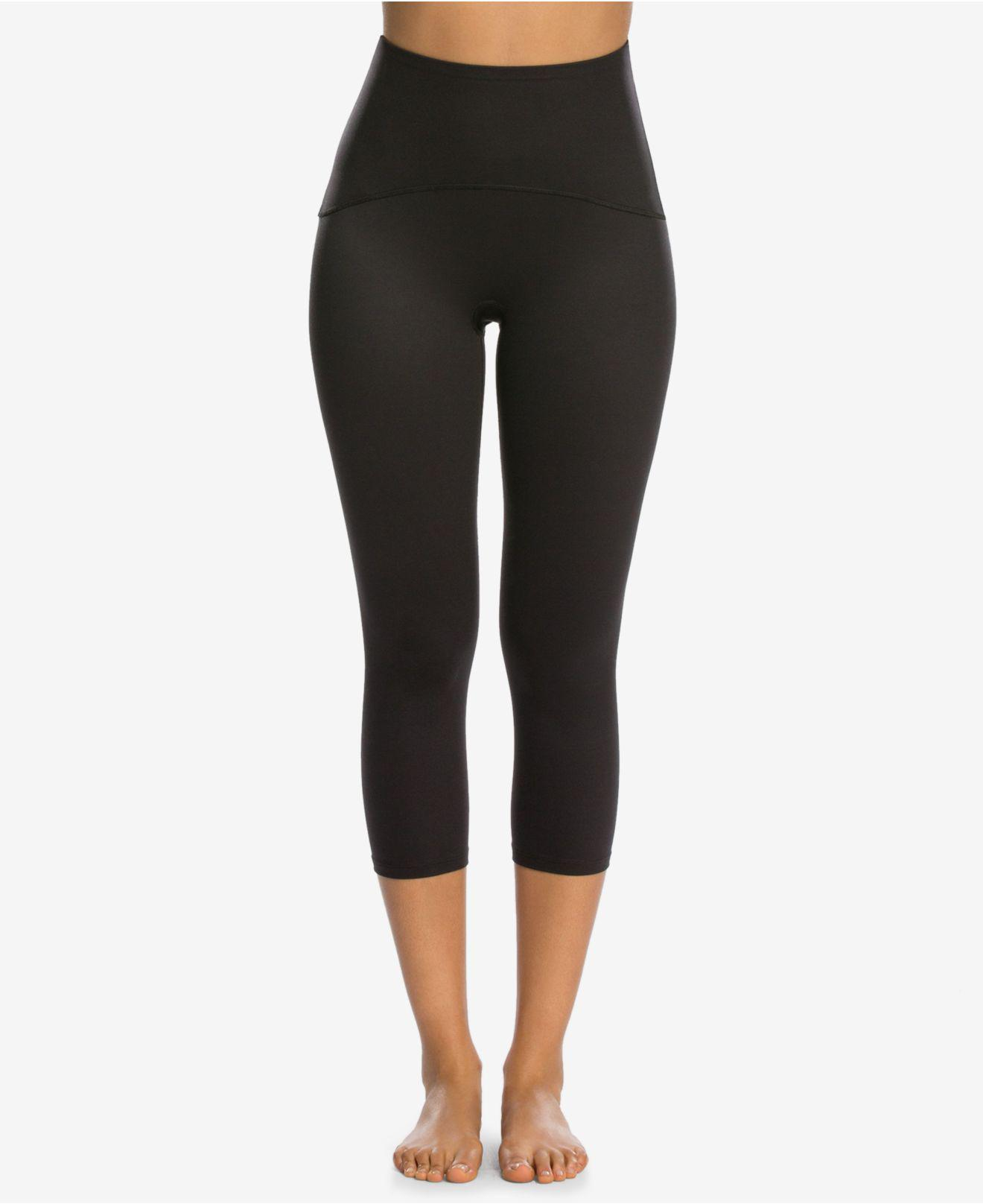39782cfd80887e Lyst - Spanx Women's Active Shaping Cropped Compression Leggings in ...