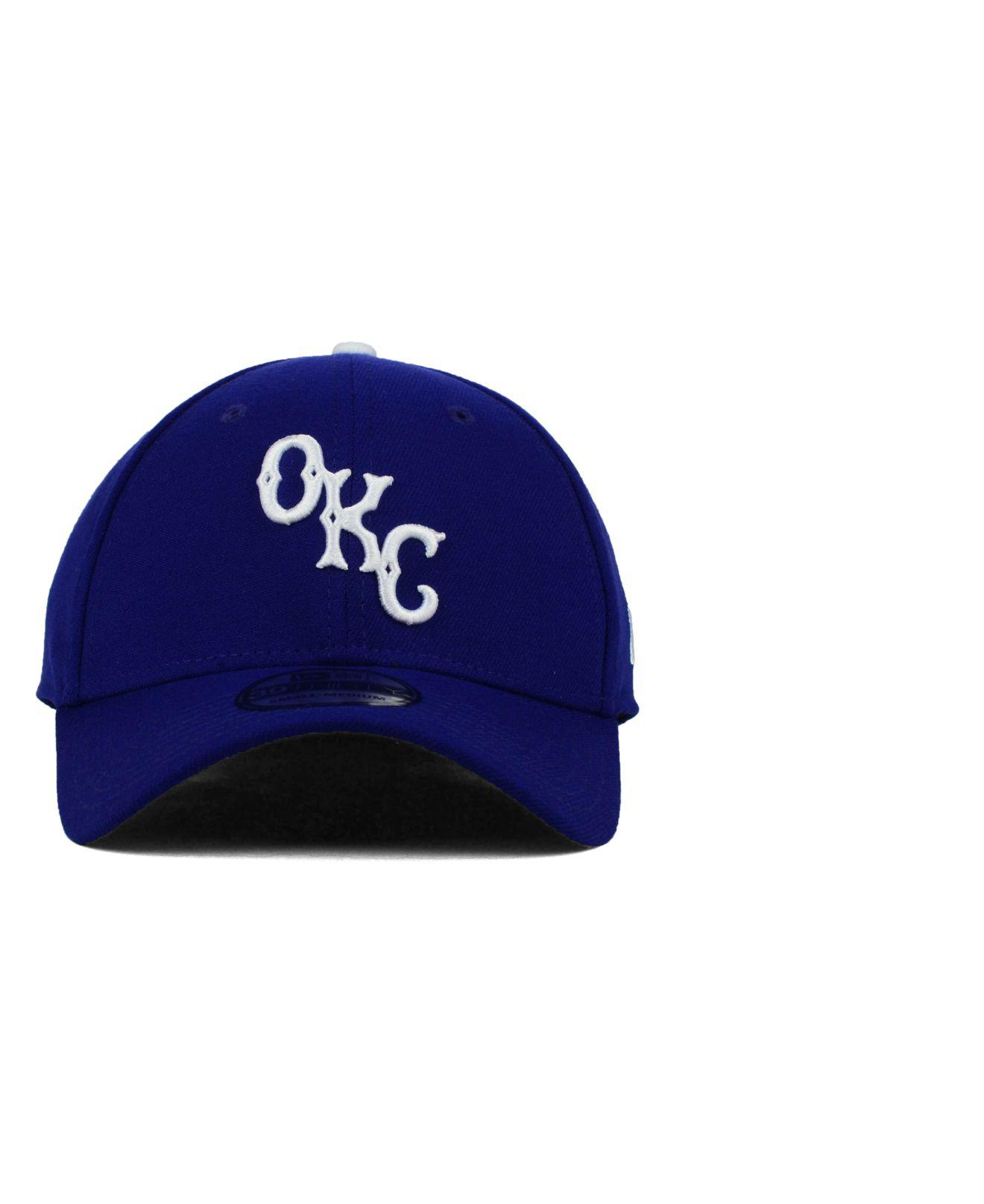 47e061a6607 Lyst - Ktz Oklahoma City Dodgers 39thirty Cap in Blue for Men