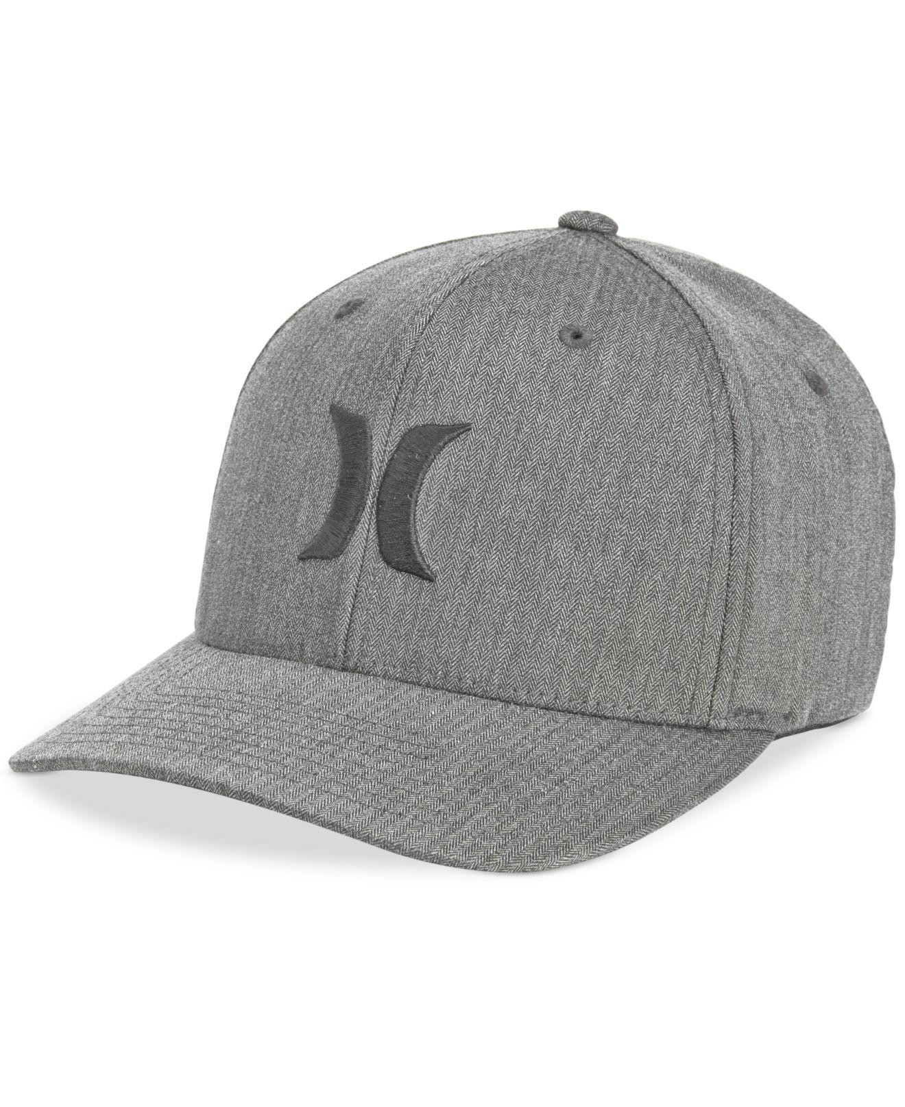 87e6275f4fb47 Lyst - Hurley Men s One And Only Texture Flexfit Logo Hat in Gray ...