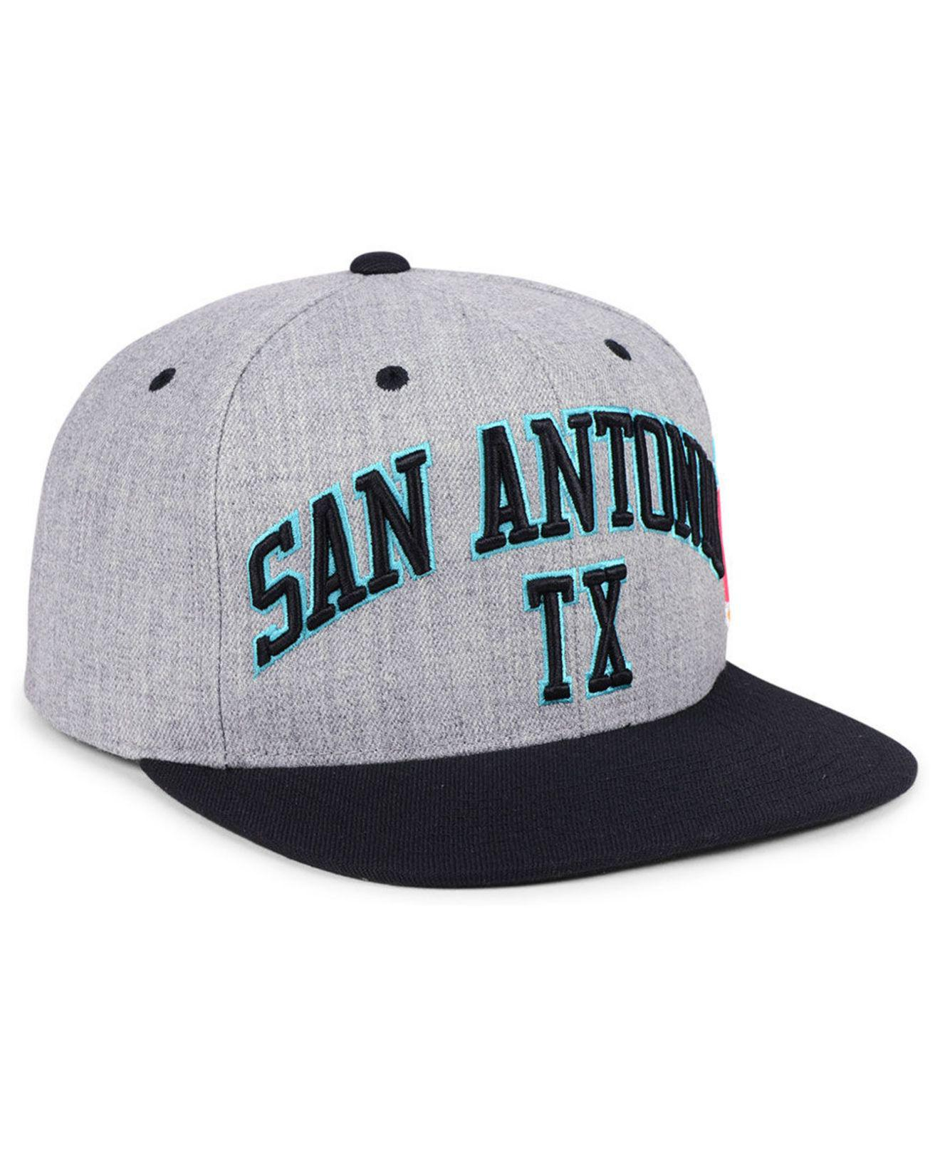 cheap for discount 39962 74494 ... clearance lyst mitchell ness san antonio spurs side panel cropped  snapback 2bca2 1c1a6