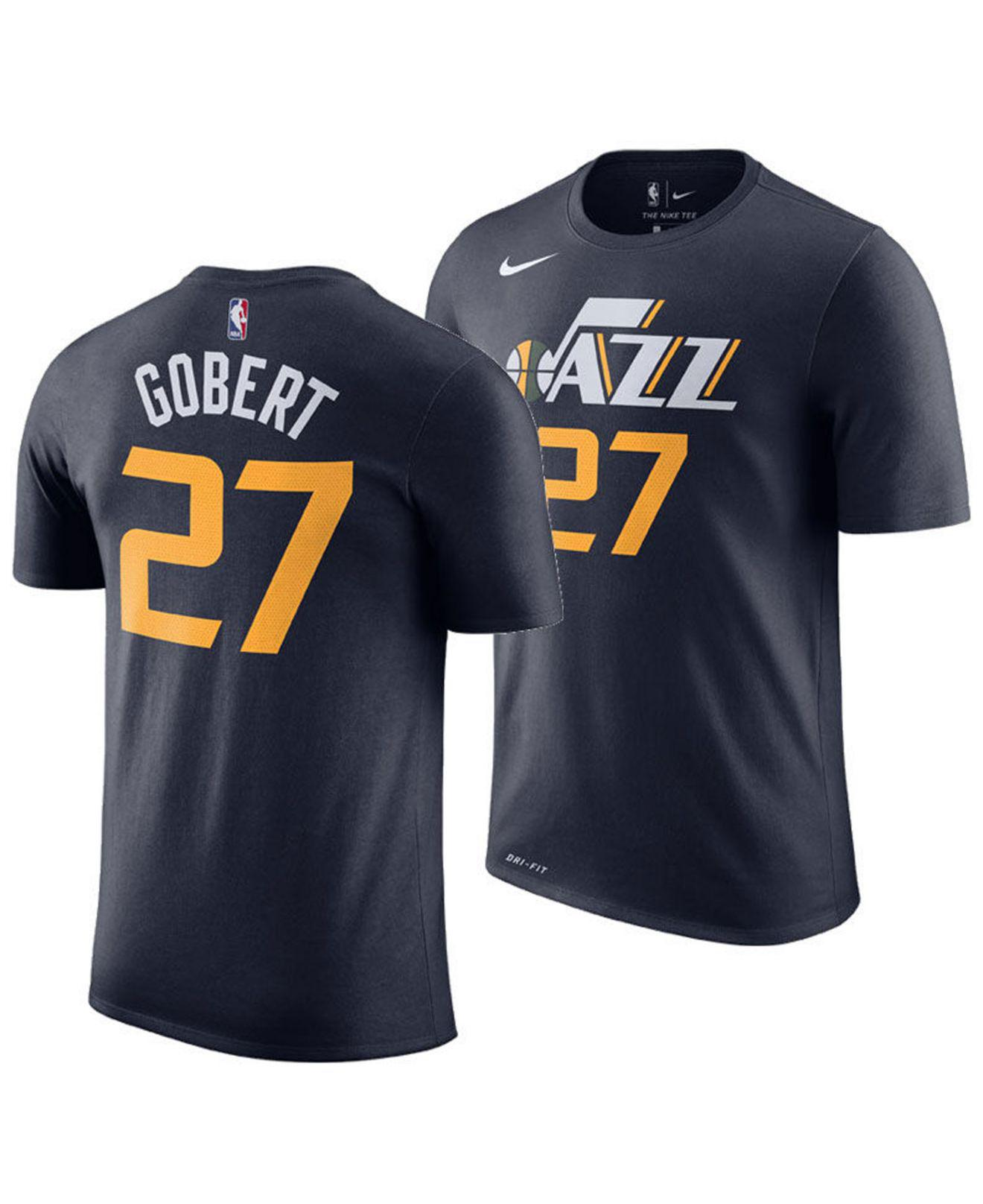 a24696f83 Lyst - Nike Rudy Gobert Utah Jazz Icon Player T-shirt in Blue for Men