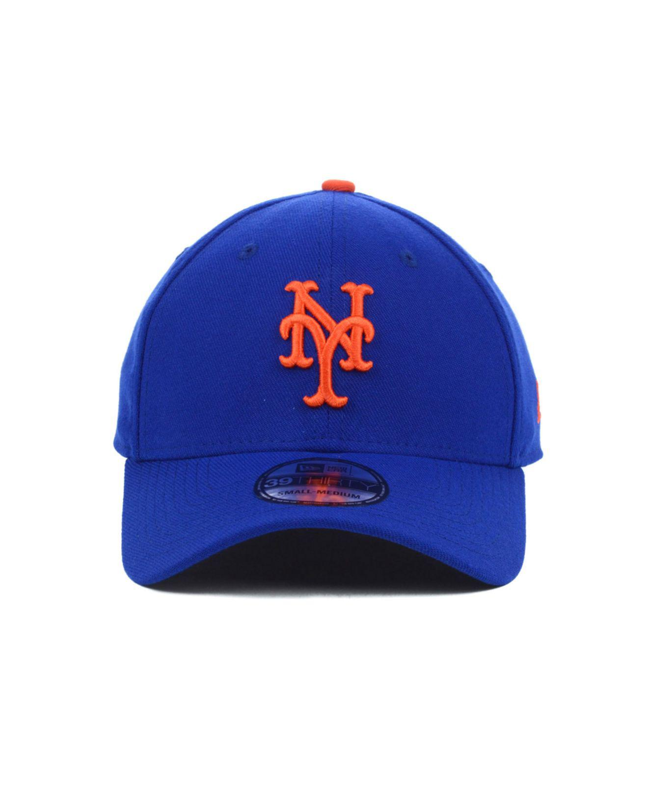 69fc4aa1f5c29d ... lyst ktz new york mets mlb team classic 39thirty cap in blue for men